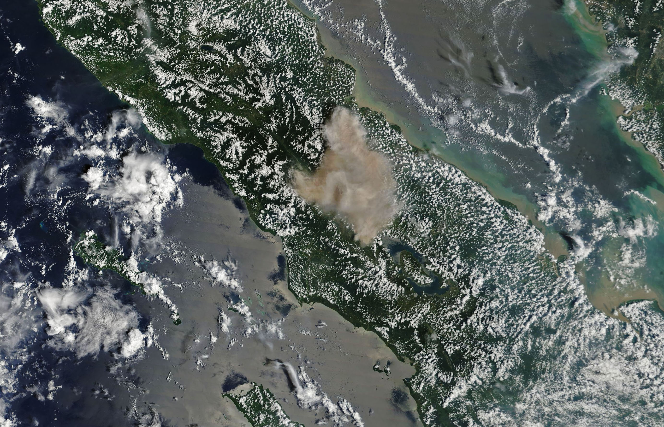 Today's Image of the Day comes from the NASA Earth Observatory and features a look at this week's violent eruption at Mount Sinabung in Indonesia.