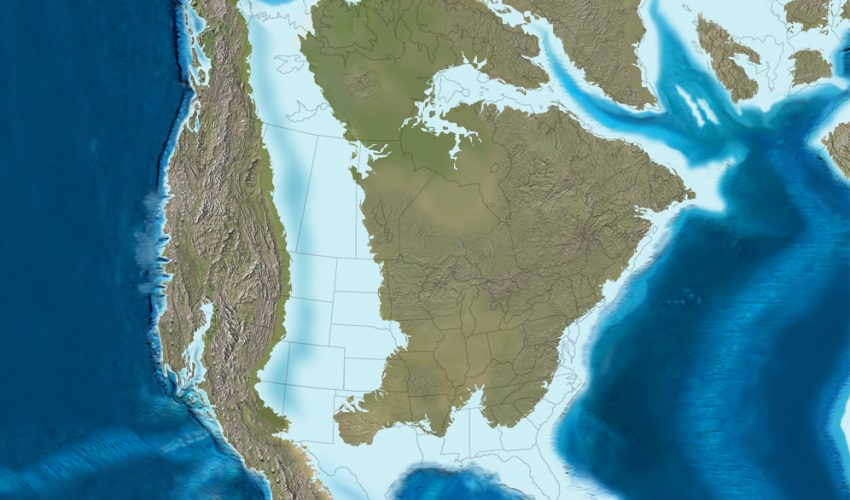 The Western Interior Seaway split what is now the United States roughly in half, and the states of Colorado and Wyoming were underwater.