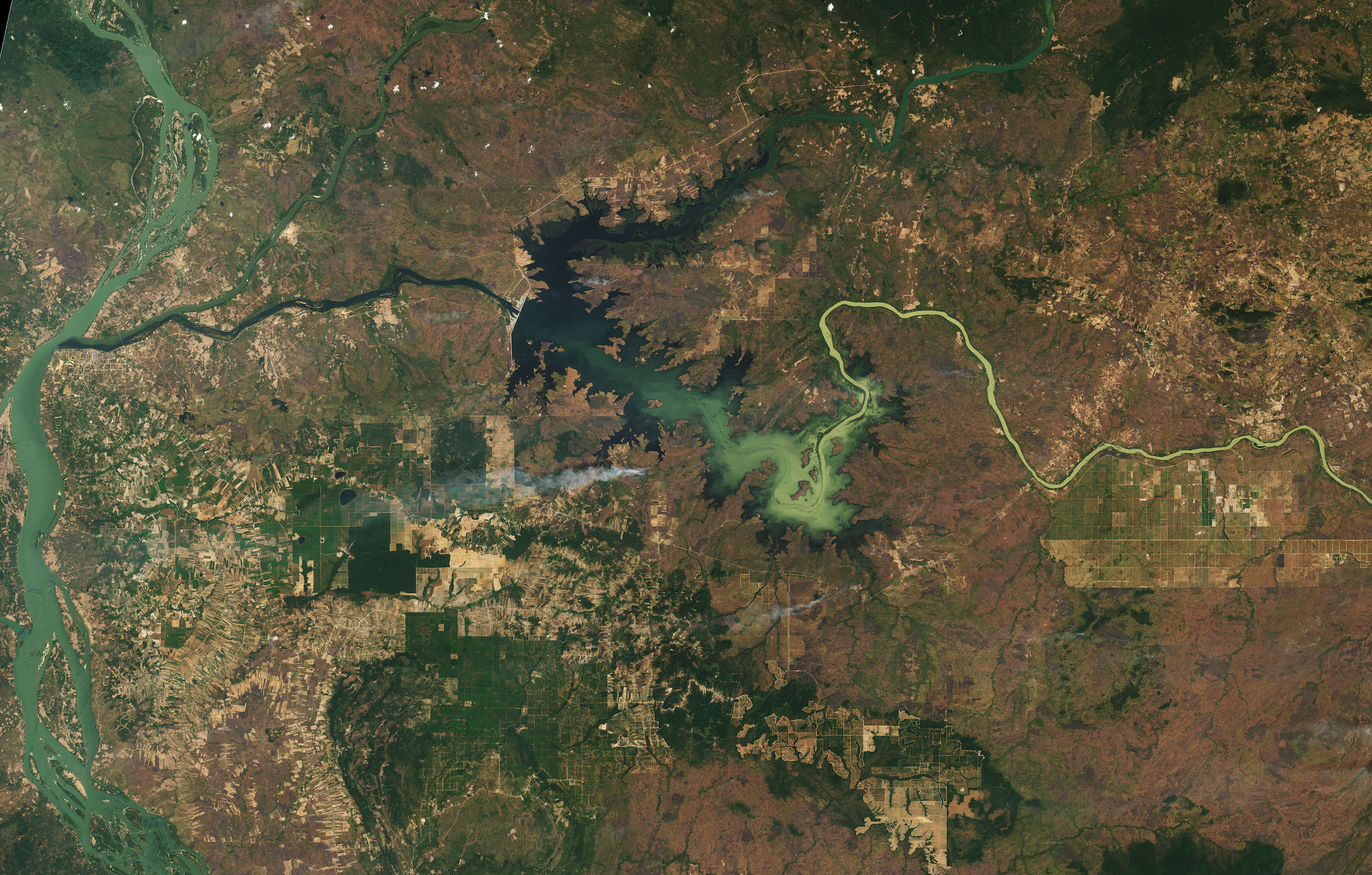 Today's Image of the Day comes from the NASA Earth Observatory and features a look at Cambodia's newly created water reservoir.