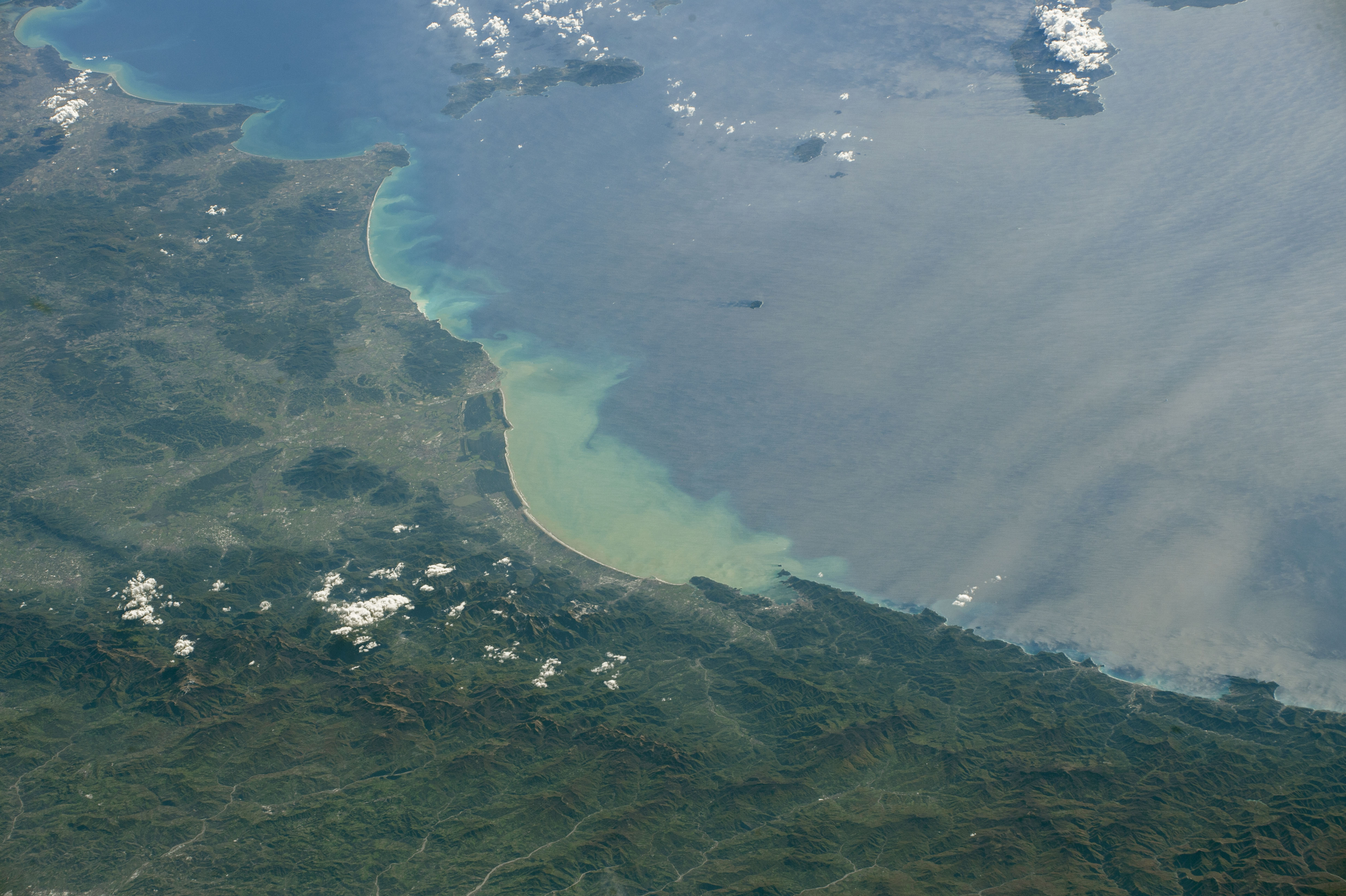 Today's Image of the Day comes from the NASA Earth Observatory and features a look at the the coastline of Italy near Tuscany.
