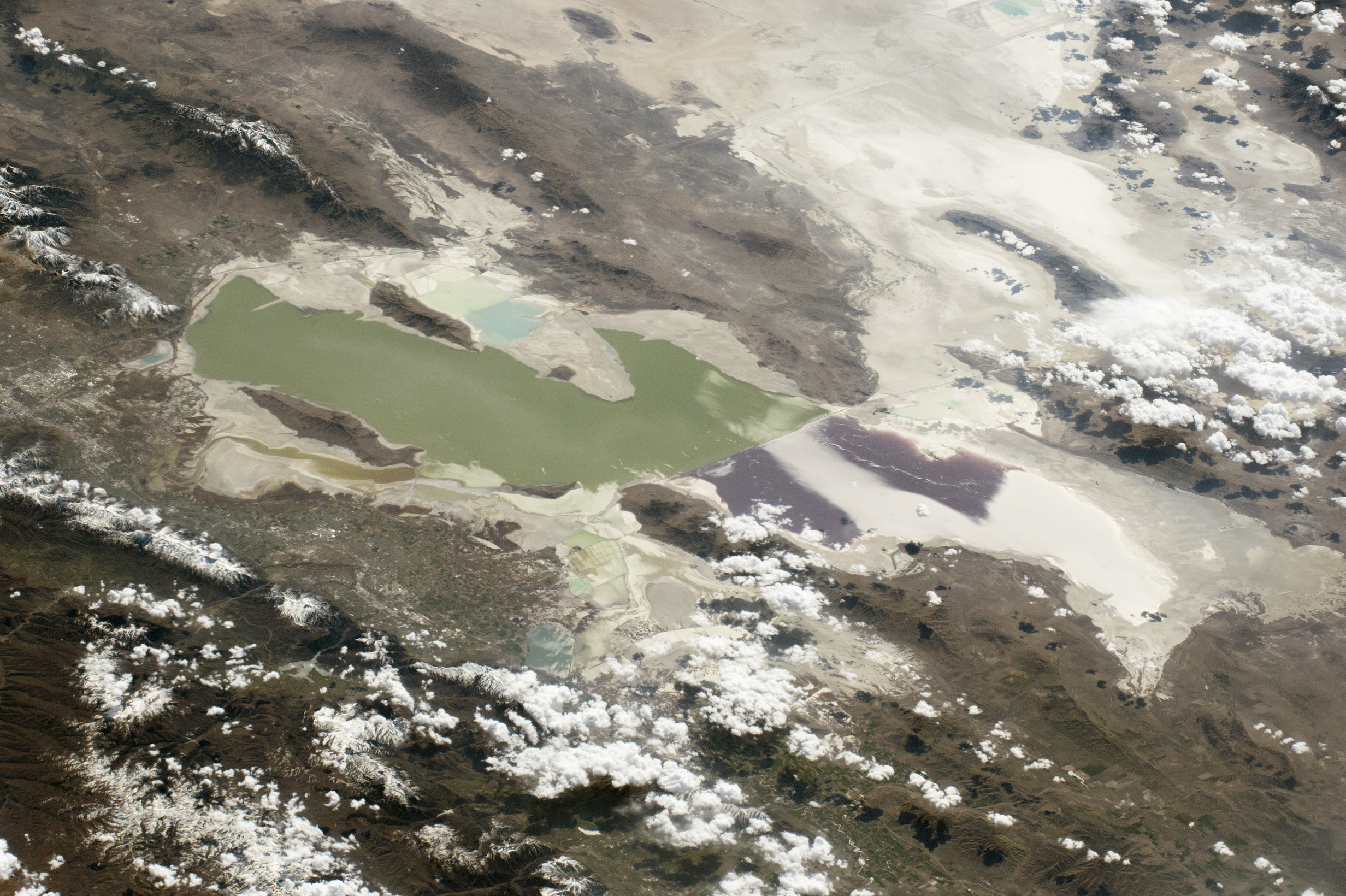 Today's Image of the Day comes from the NASA Earth Observatory and features a look at the Great Salt Lake in northern Utah.