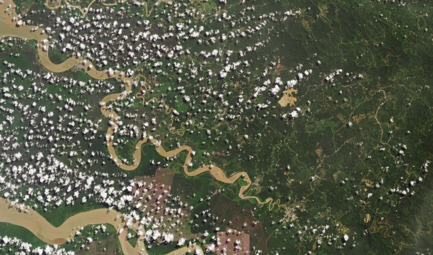 Today's Image of the Day comes from the NASA Earth Observatory and features a look at the Rajang River Delta in Sarawak.