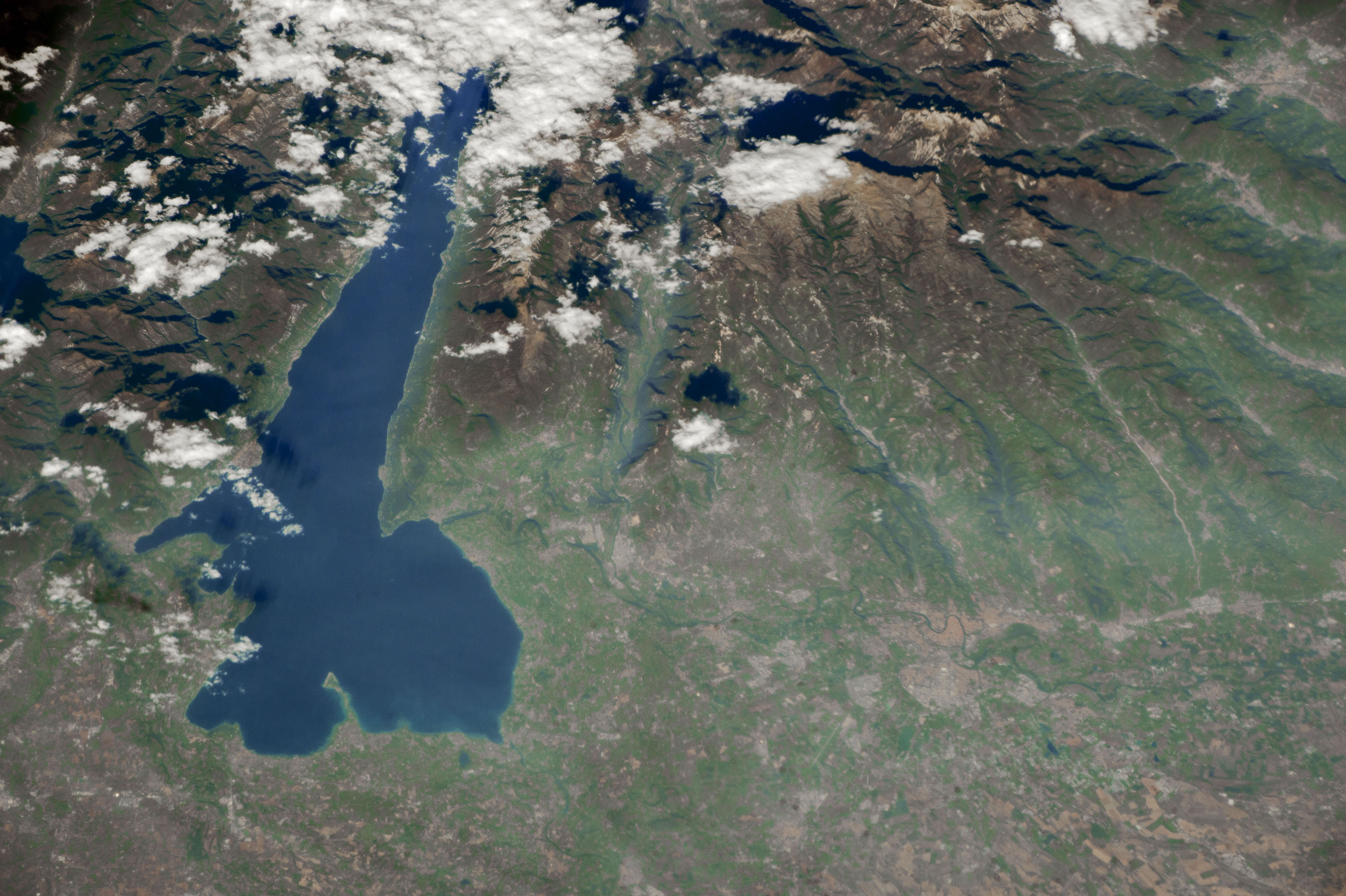 Today's Image of the Day comes from the NASA Earth Observatory and features a look at Lake Garda, the largest lake in the country of Italy.