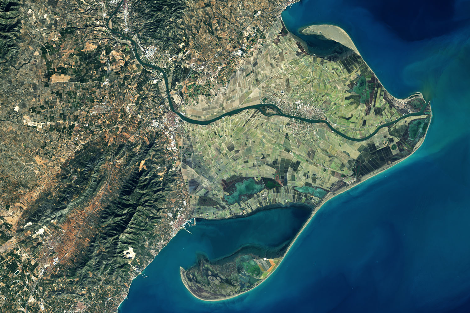 Today's Image of the Day comes from the NASA Earth Observatory and features a look at the Ebro River Delta along the Mediterranean coast.