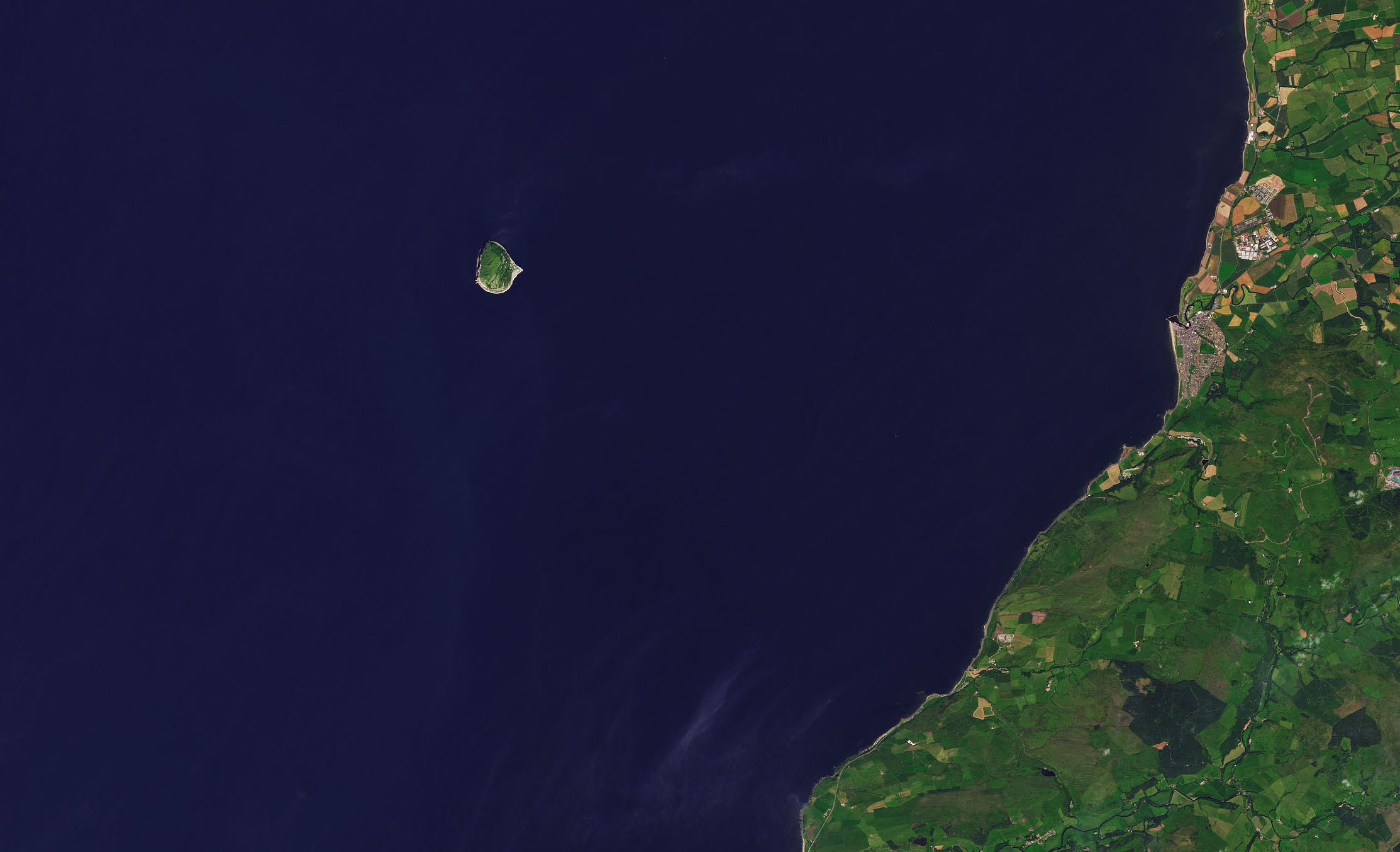 Today's Image of the Day comes from the NASA Earth Observatory and features a look at Ailsa Craig, a tiny islet located 10 miles off the coast of southwestern Scotland.