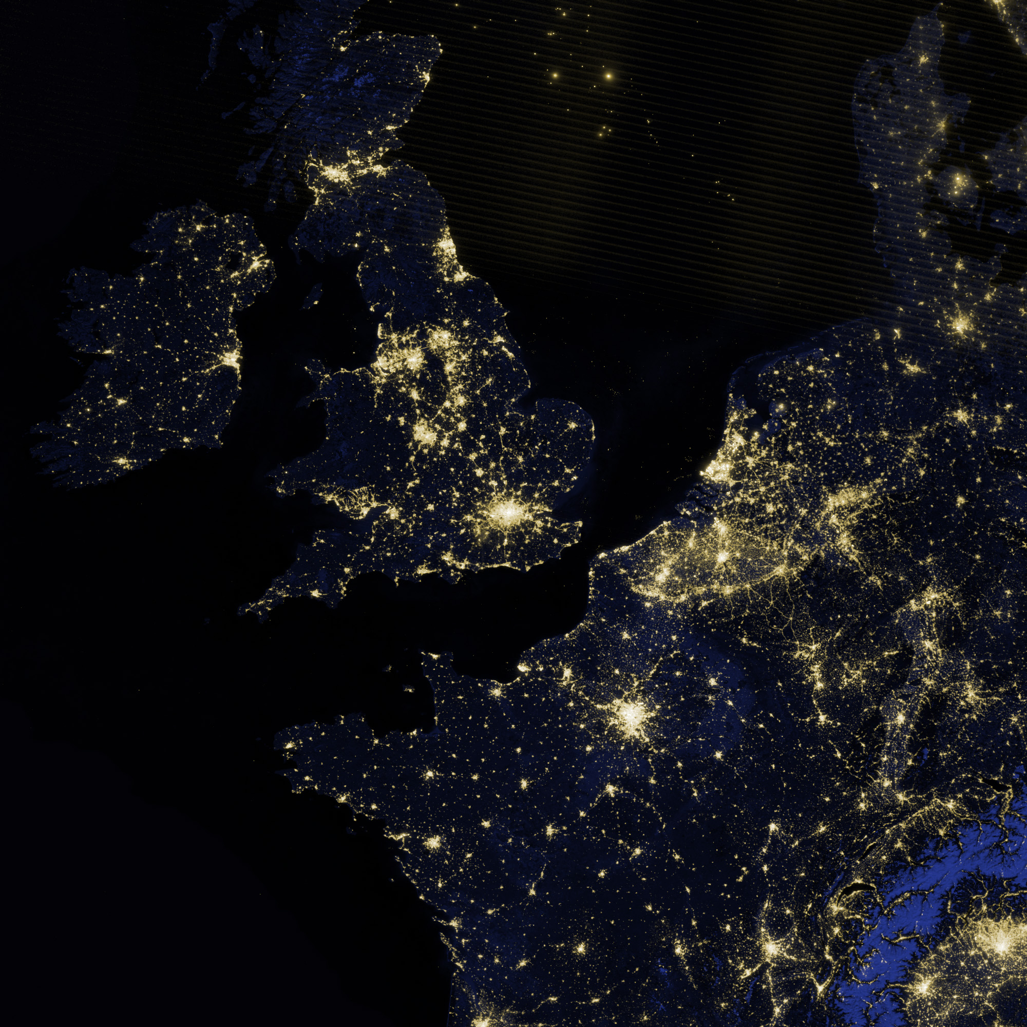 Today's Image of the Day comes from the NASA Earth Observatory and features a look at the bright night lights of London.