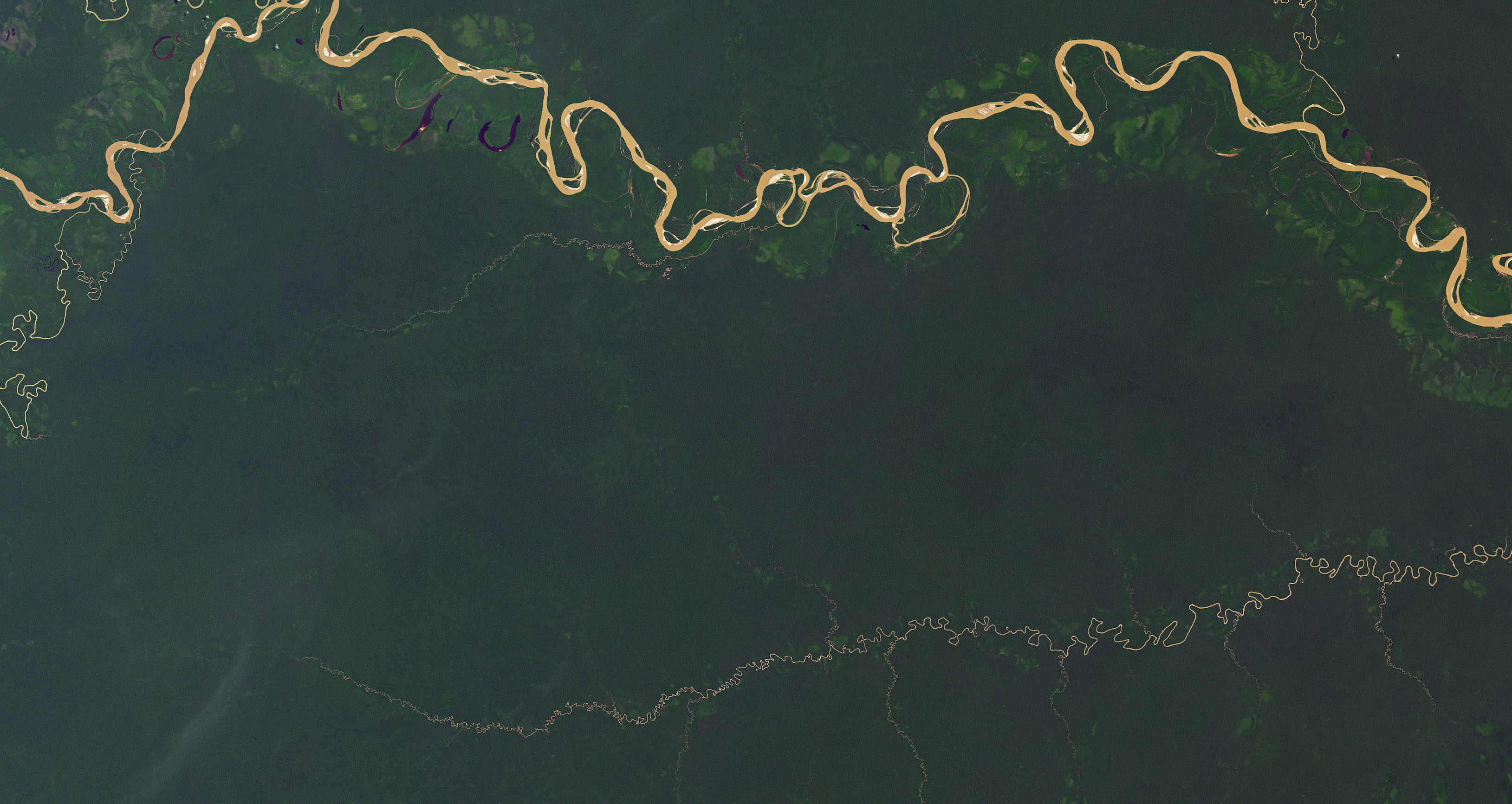 Today's Image of the Day comes from the NASA Earth Observatory and features a look at the Yaguas River, which winds through the a protected rainforest in northeast Peru.