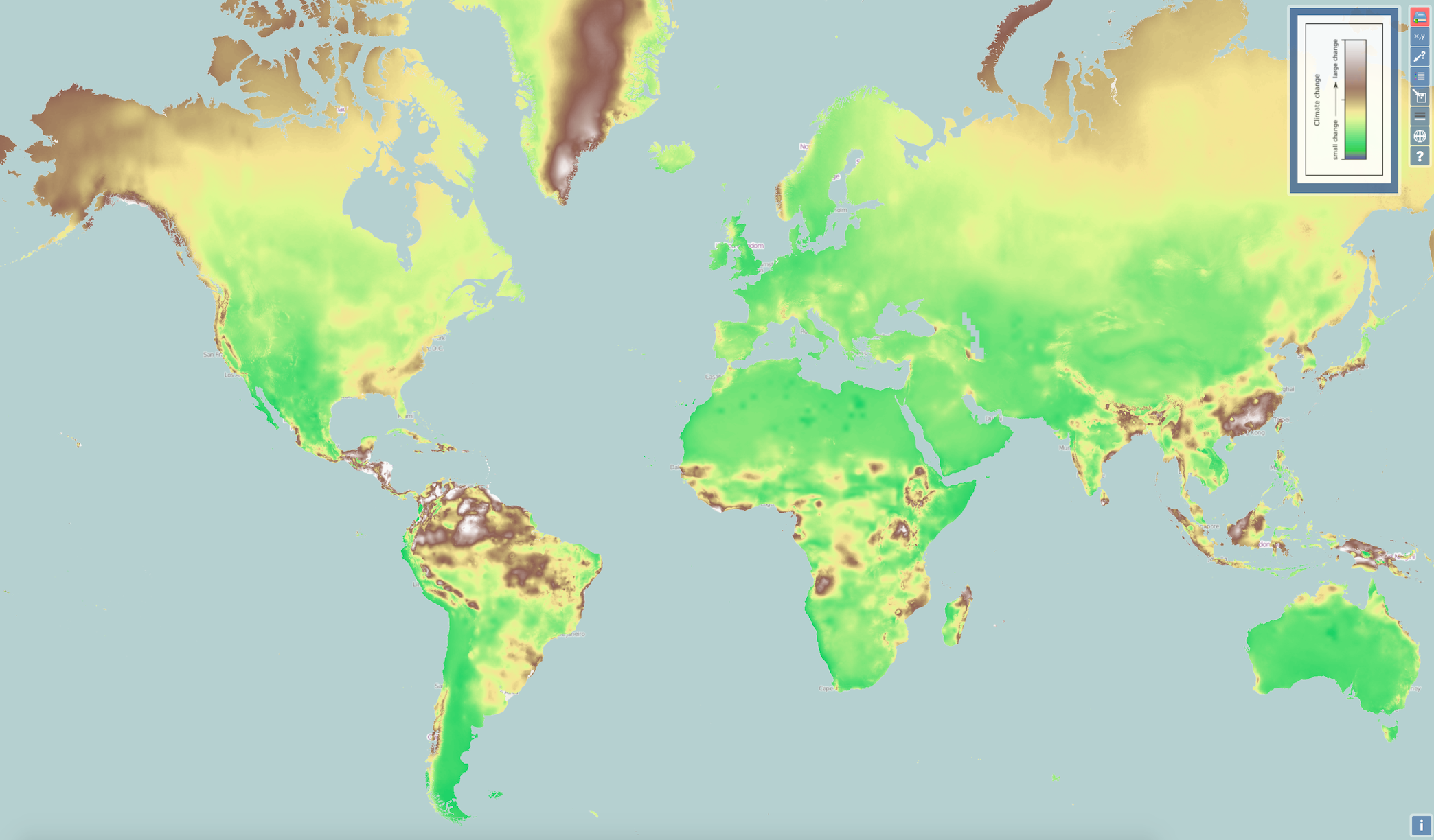Climate Change Map New map reveals the impact of climate change across the globe