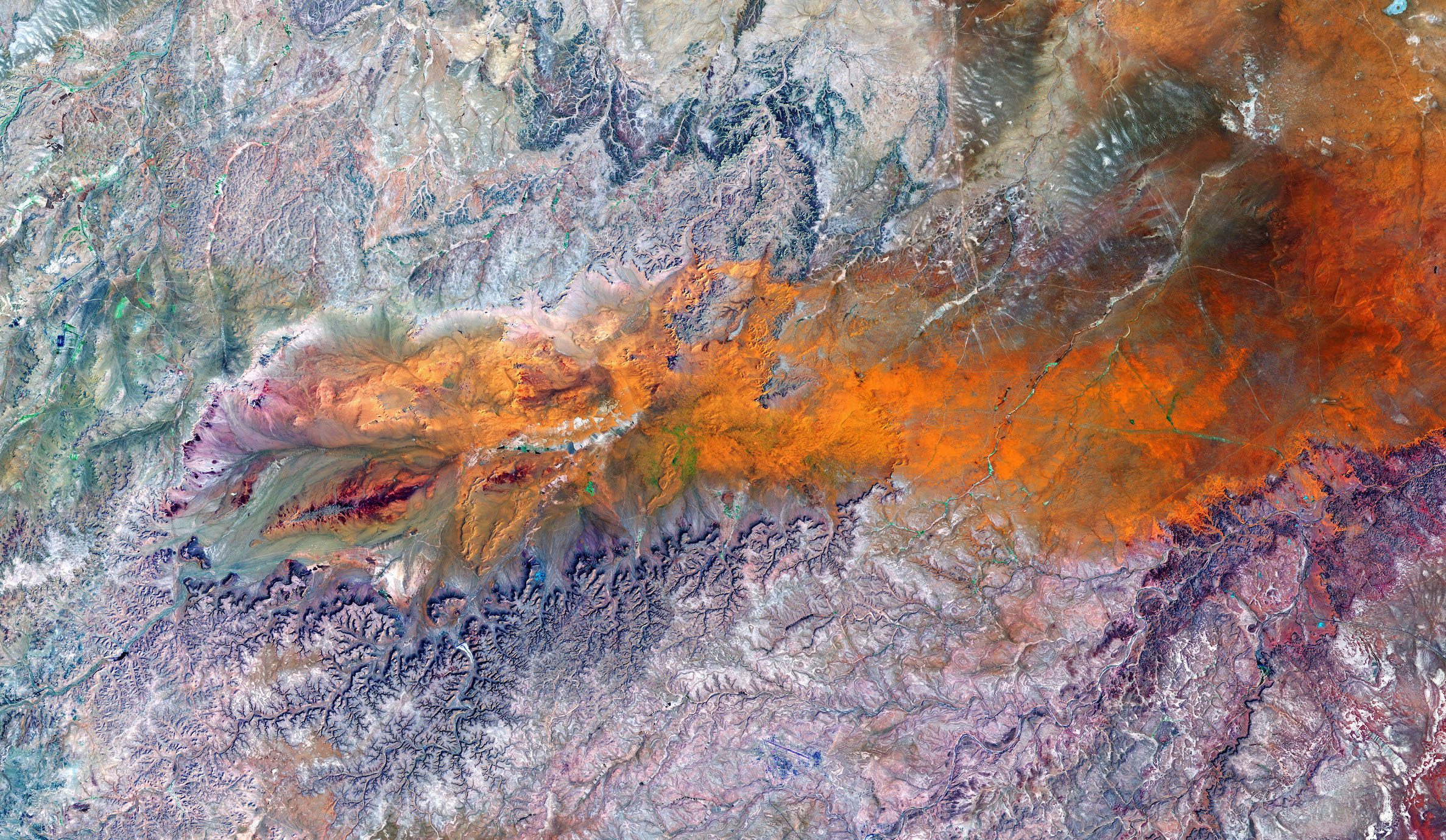 Today's Image of the Day comes from the NASA Earth Observatory and features a look at the Ga'ara Depression near the Iraq-Syria border.