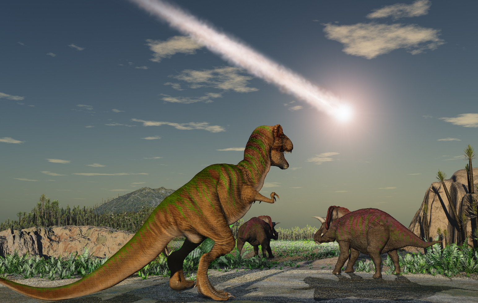 According to new research, the dinosaurs were in trouble long before the asteroid struck the Earth because they were eating toxic plants.