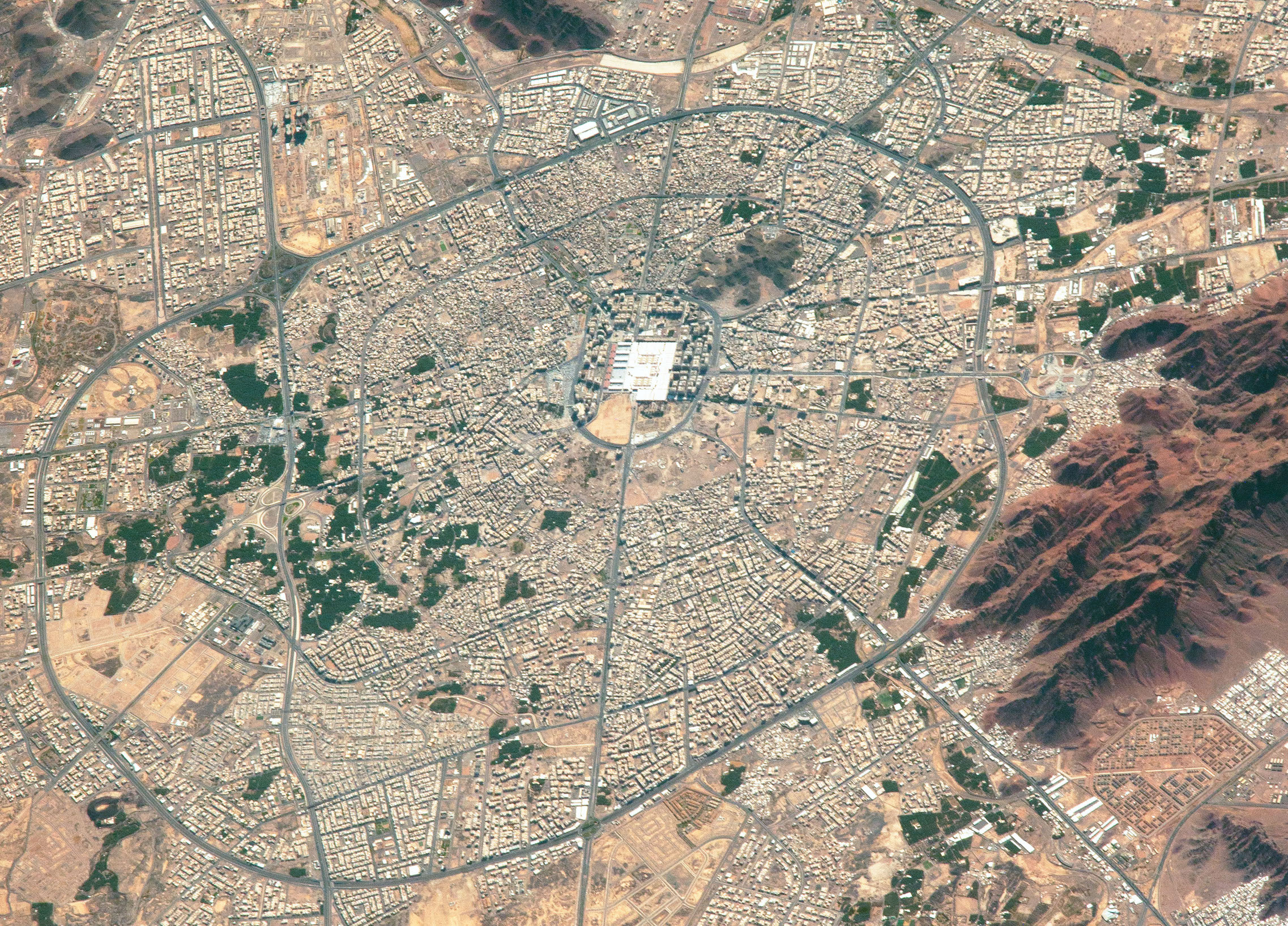 Today's Image of the Day comes from the NASA Earth Observatory and features a look at the city of Medina in western Saudi Arabia.