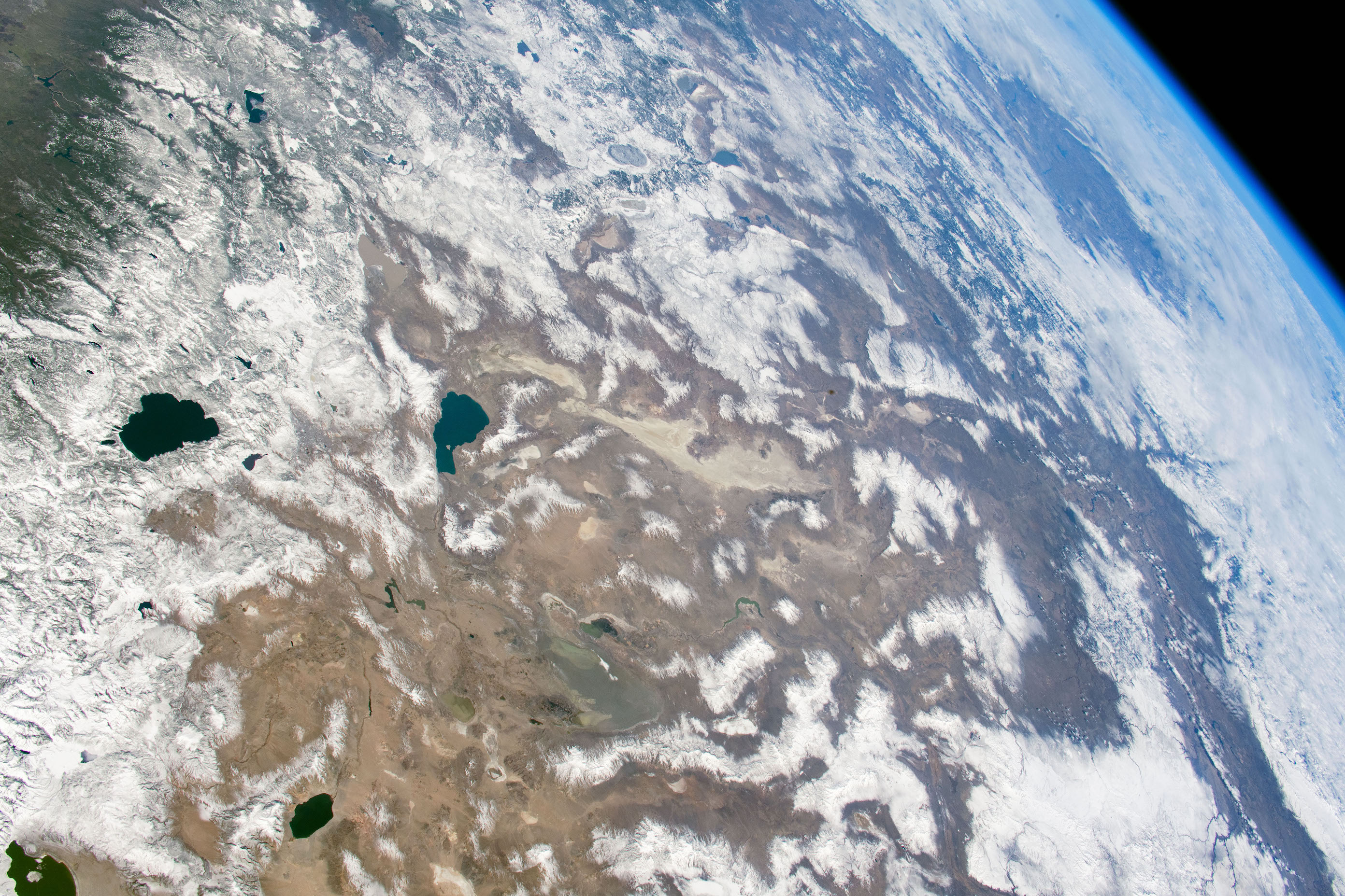 Today's Image of the Day comes from the NASA Earth Observatory and features a look at Lake Tahoe and the Great Basin Desert.