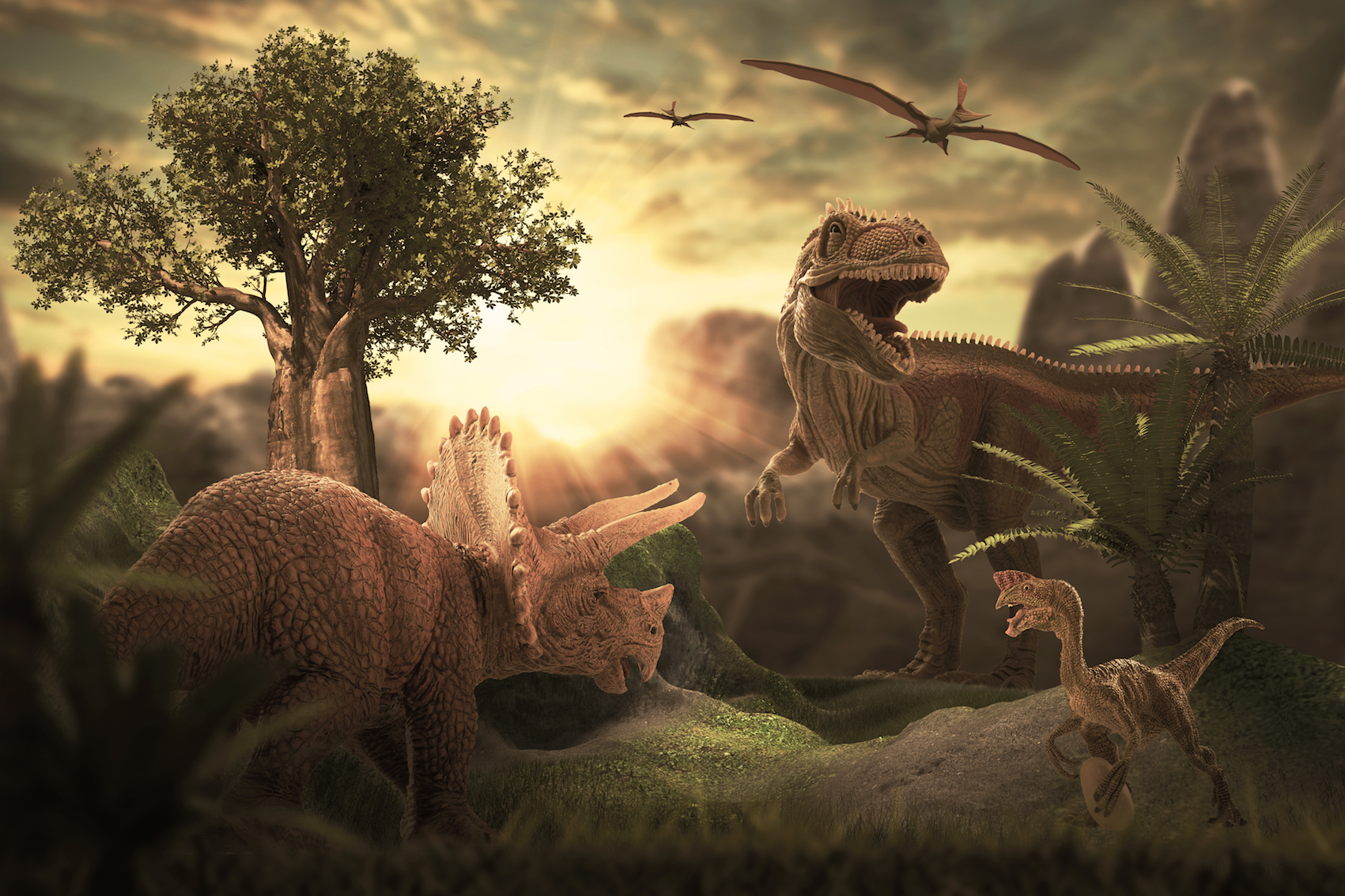 Researchers at the University of Bristol have discovered that a mass extinction event which occurred 232 million years ago is what gave rise to the dinosaurs.