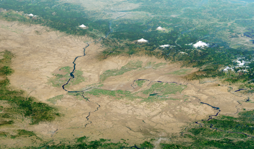 Today's Image of the Day comes from the NASA Earth Observatory and features a look at the rugged terrain of the Columbia Plateau in eastern Washington.