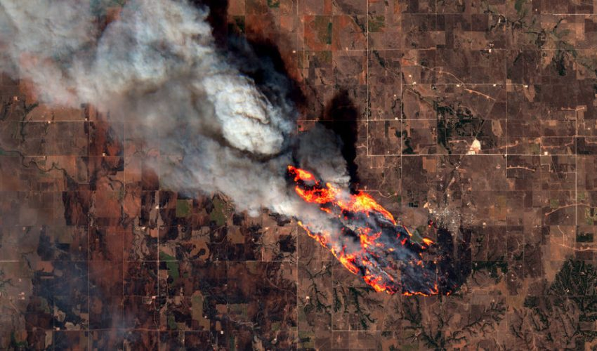 Explosive wildfires continue to rage across western Oklahoma