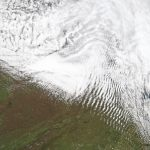 Today's Image of the Day comes from the NASA Earth Observatory and features a look at unique cloud formations over the Appalachian mountains known as wave clouds.