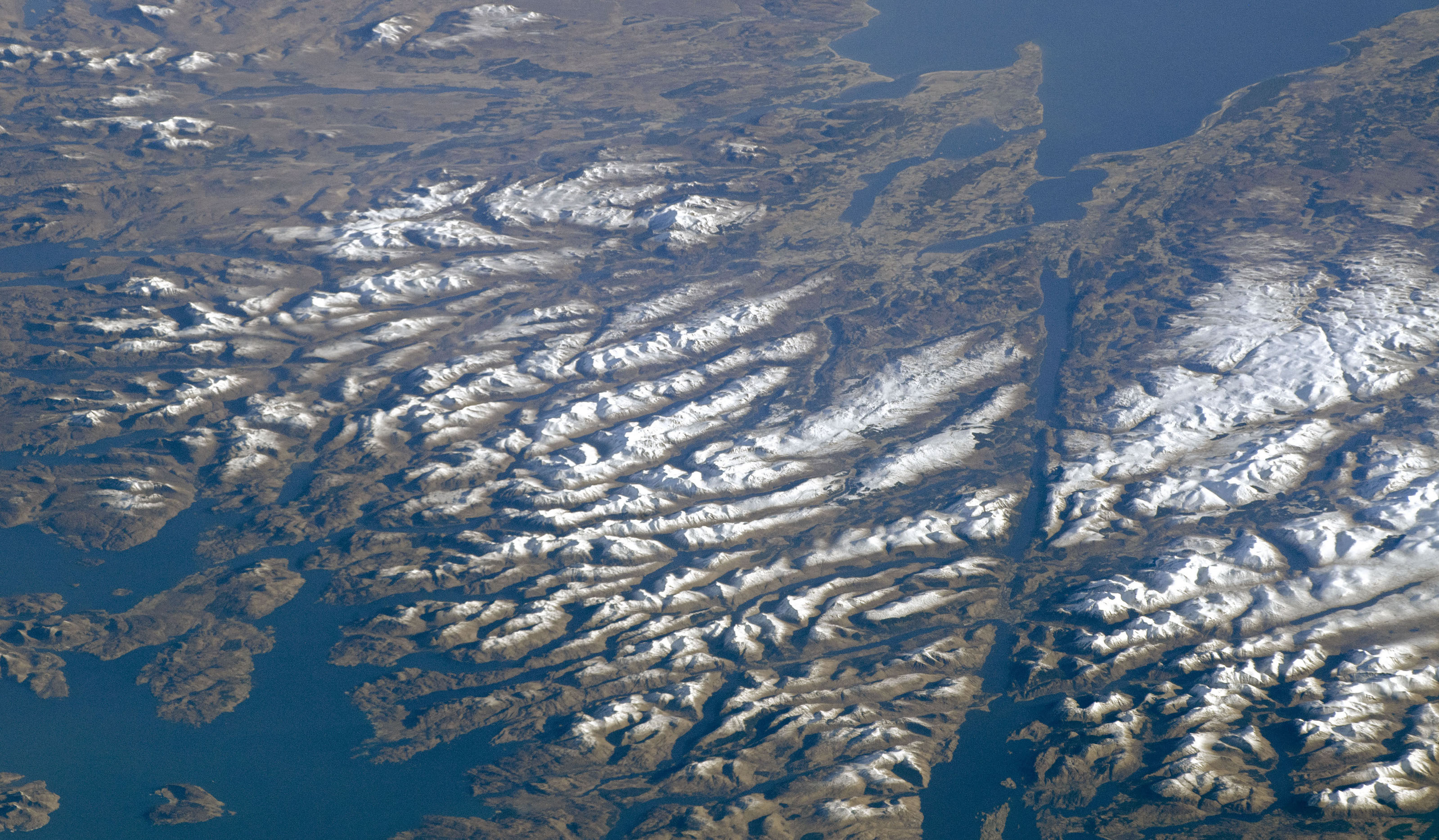 Today's Image of the Day comes from the NASA Earth Observatory and features a look at the Scottish Highlands on a rare clear day.