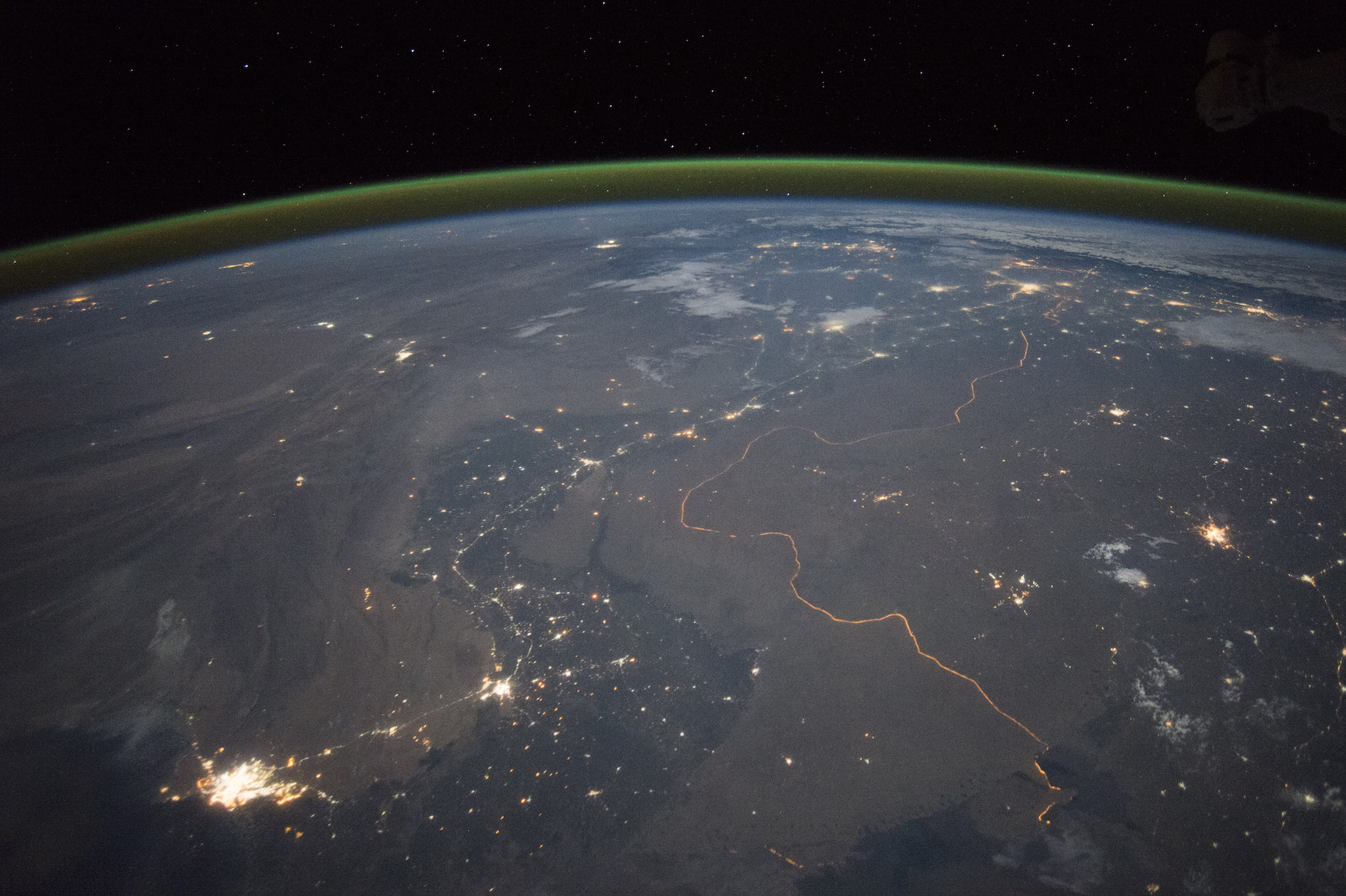 Today's Image of the Day comes from the NASA Earth Observatory and features a nighttime look at the border of India and Pakistan.