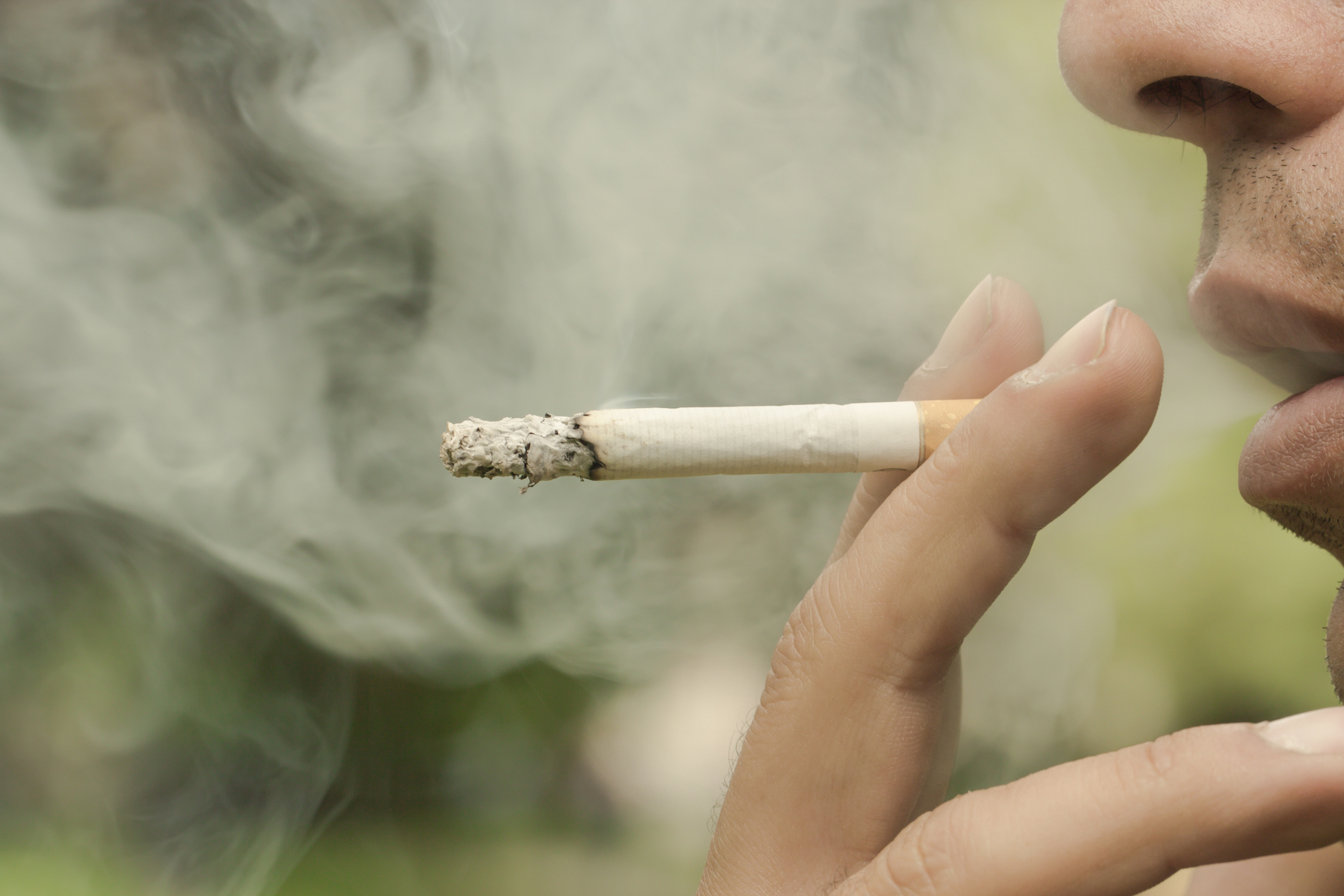 A new study has found that chemical residue from cigarette smoke, also known as third-hand smoke, can attach to clothes, hair, and surfaces, and these pollutants make their way indoors, even in non-smoking buildings.A new study has found that chemical residue from cigarette smoke, also known as third-hand smoke, can attach to clothes, hair, and surfaces, and these pollutants make their way indoors, even in non-smoking buildings.