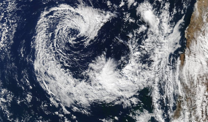 Today's Image of the Day comes from the NASA Earth Observatory and features a look at a rarely seen cyclone off the Pacific Coast of South America.