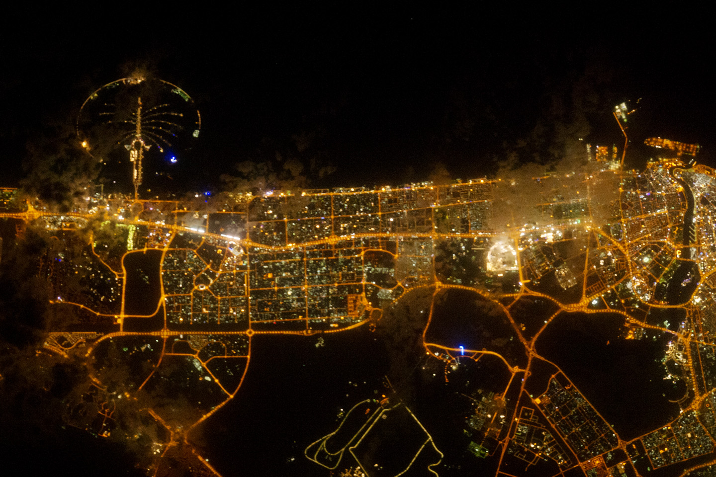Today's Image of the Day comes from the NASA Earth Observatory and features a look at the lights of the city of Dubai at night.