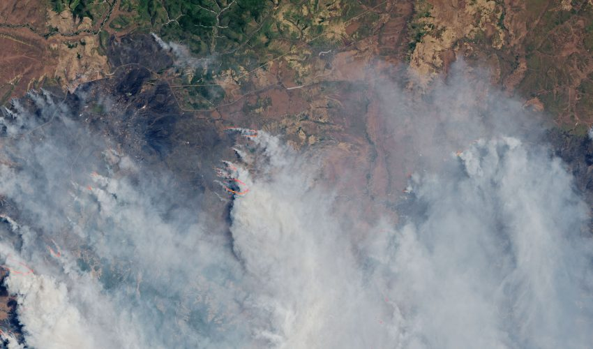 Today's Image of the Day comes from the NASA Earth Observatory and features a look at fires blazing last week, May 7 - 13, 2018, in the Amur Oblast region of Siberia.
