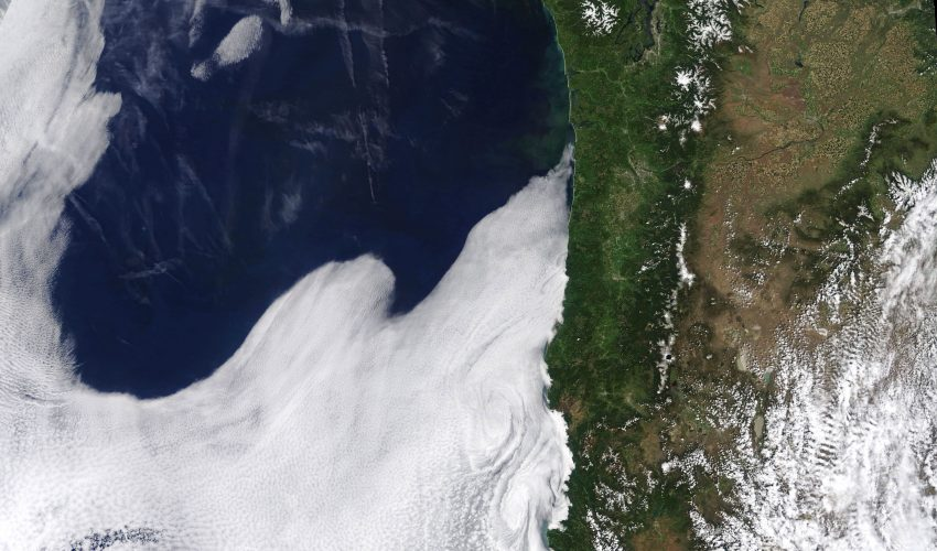 Today's Image of the Day comes from the NASA Earth Observatory and features a panoramic view of the west coast of the United States.