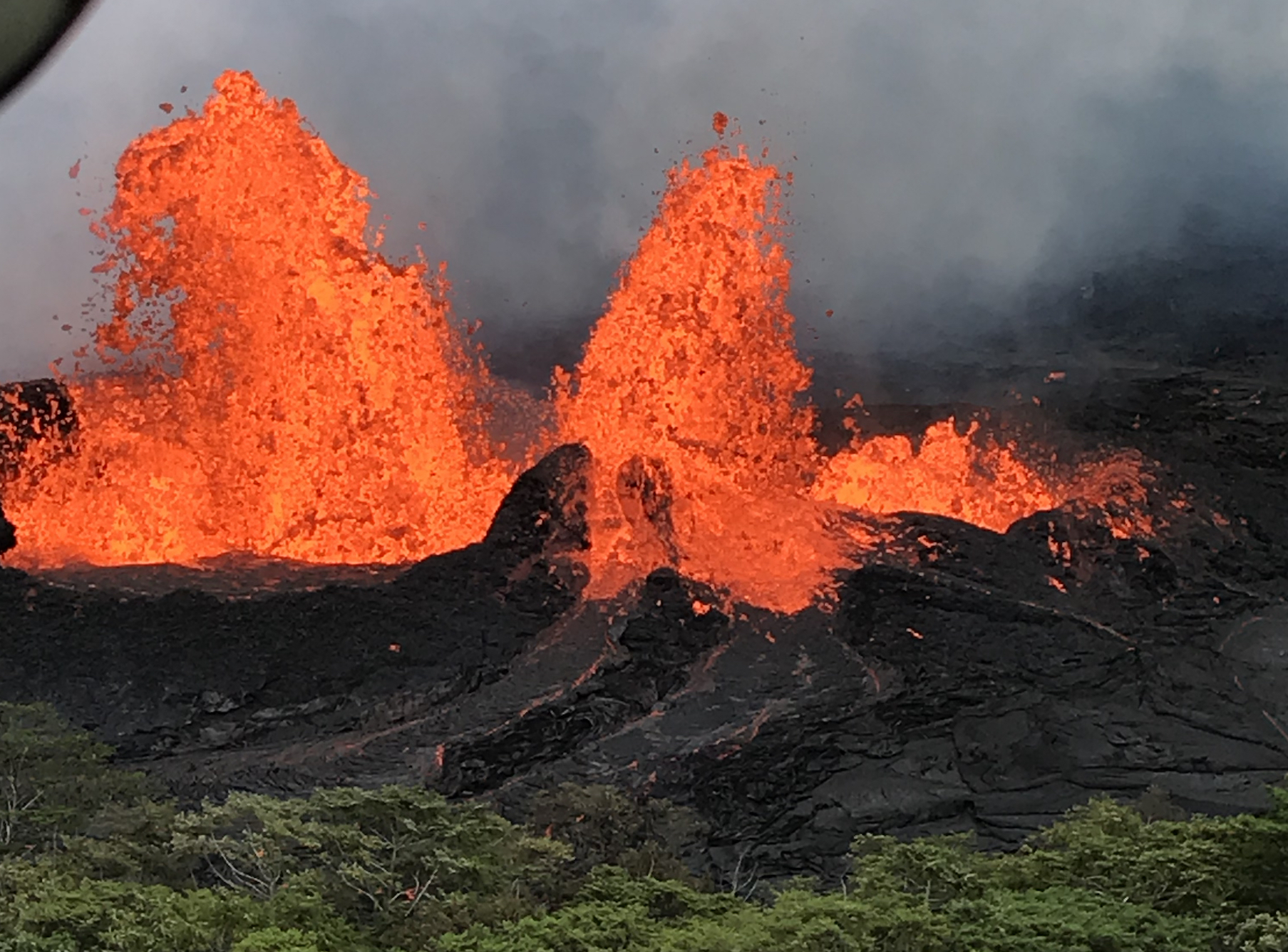 Today's Image of the Day comes from the U.S. Geological Survey and features a look at lava bursts at the Kilauea volcano's Lower East Rift Zone.
