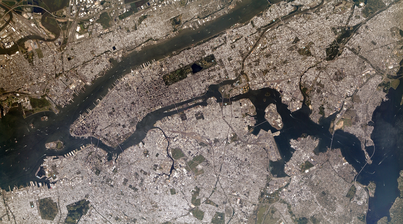 Today's Image of the Day comes from the NASA Earth Observatory and features a look at New York City, the East River, New Jersey, and the Hudson River.