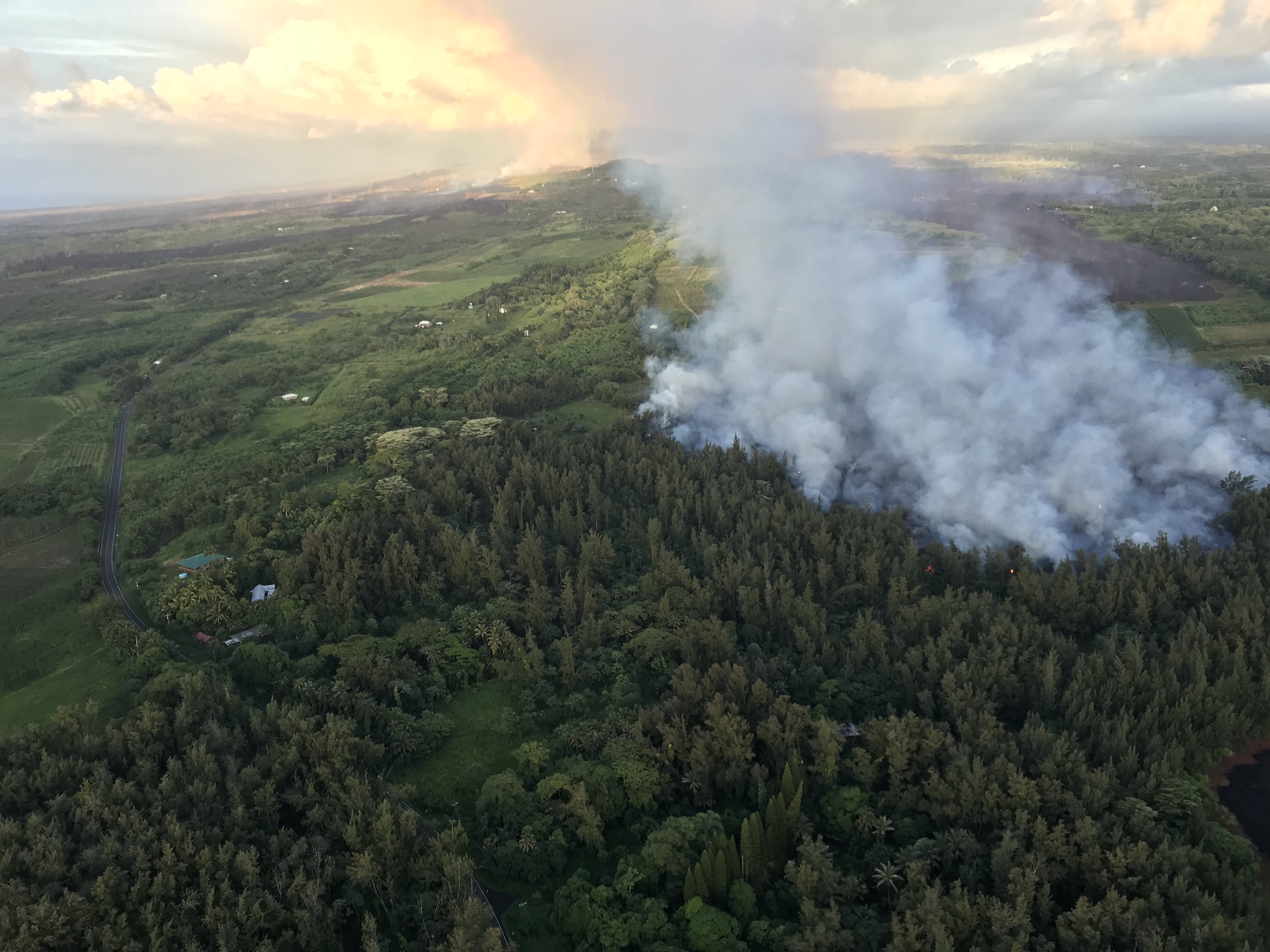 Today's Image of the Day comes from the U.S. Geological Survey (USGS) and features a look at the Kilauea volcano's Fissure 8 lava flow continuing to push northeast.