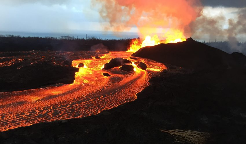 Today's Image of the Day from the U.S. Geological Survey(USGS) shows the persistent activity of Kilauea's fissure 8, which continues to eject lava at heights of tens to hundreds of feet into the air.