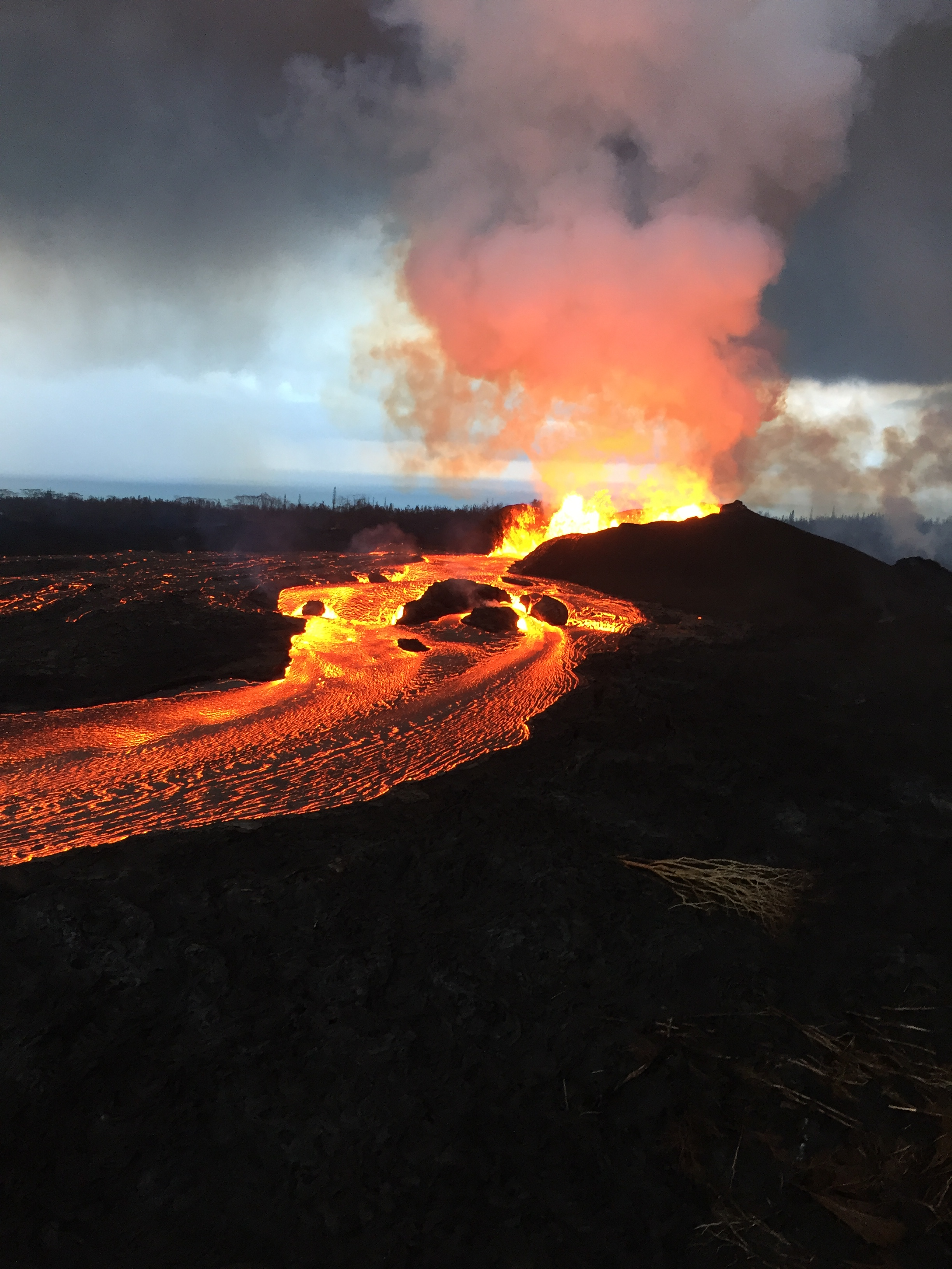 Today's Image of the Day from the U.S. Geological Survey (USGS) shows the persistent activity of Kilauea's fissure 8, which continues to eject lava at heights of tens to hundreds of feet into the air.