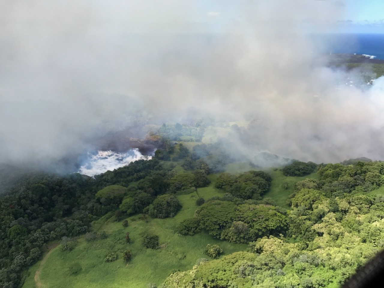 According to the USGS, lava from fissure 8 poured into Big Island's Green Lake and boiled the lake away in just 90 minutes.