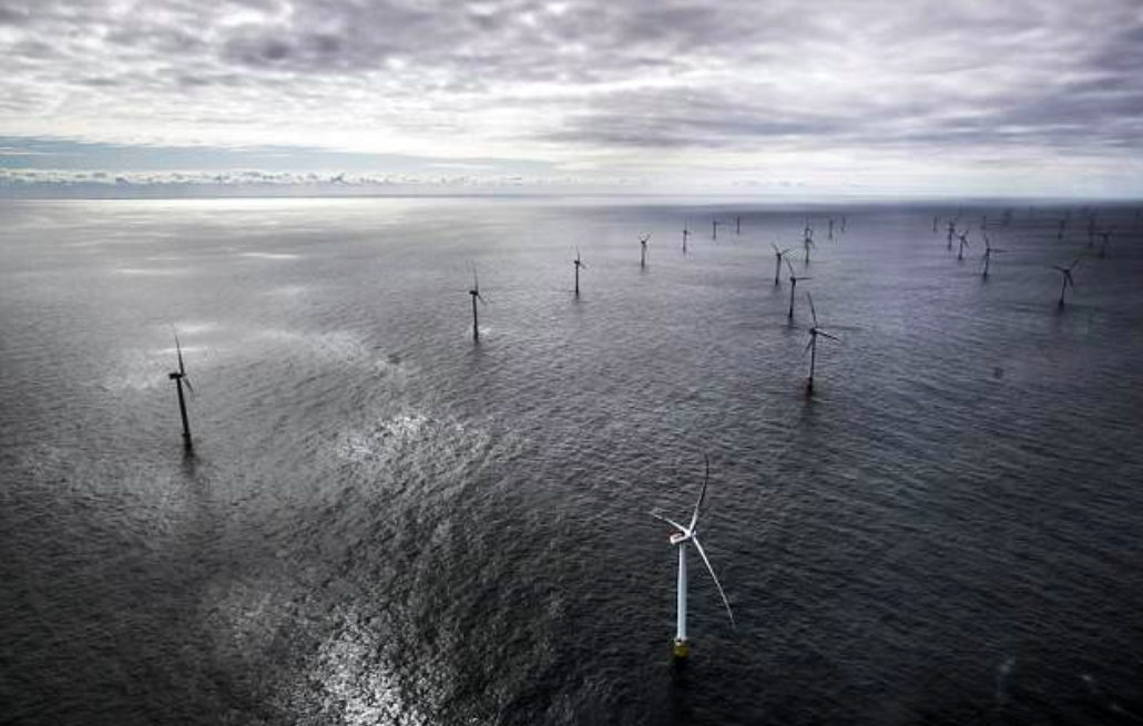 A massive wind farm is now operating off the coast of England that will generate enough power to fuel half a million homes.