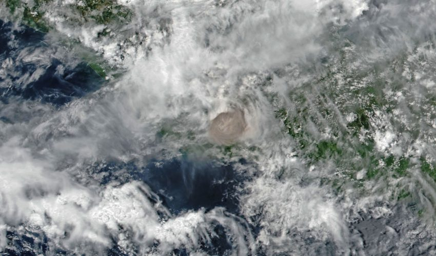 Today's Image of the Day comes from the NASA Earth Observatory and features a look at the Fuego volcano in Guatemala erupting and shooting ash into the air.