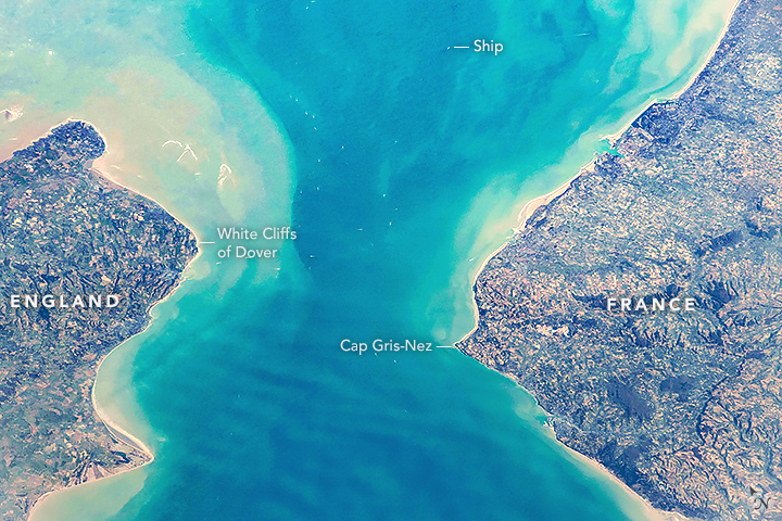 Today's Image of the Day features a look at the Strait of Dover, which is located in the narrowest part of the English Channel.