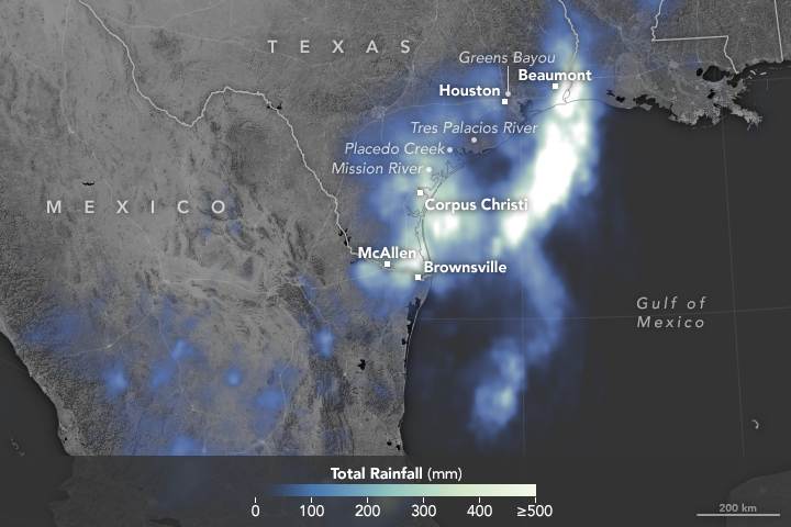 Today's Image of the Day from NASA Earth Observatory features the low-pressure system that has been dumping torrential rains in southern Texas for days.