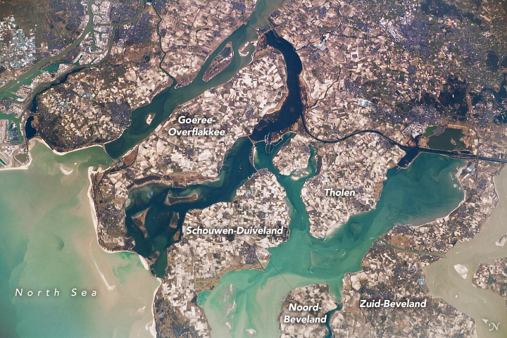 Today's Image of the Day from NASA Earth Observatory helps put the magnitude of the Rhine-Meuse-Scheldt delta into perspective.