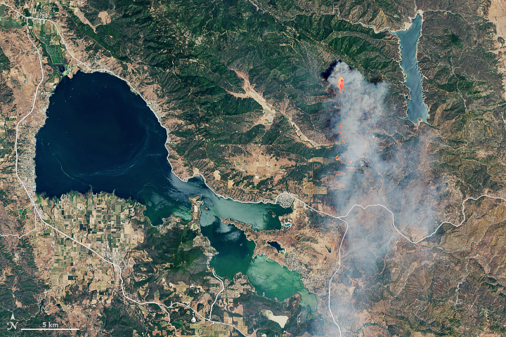Today's Image of the Day from NASA Earth Observatory features a view of the explosive Pawnee fire in Northern California on June 24, the morning after it first ignited.