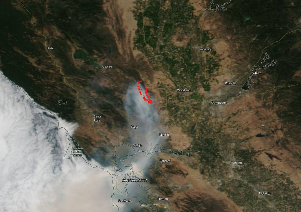 Today's Image of the Day from NASA Goddard features the explosive wildfire that was ignited on June 30 northeast of San Francisco.