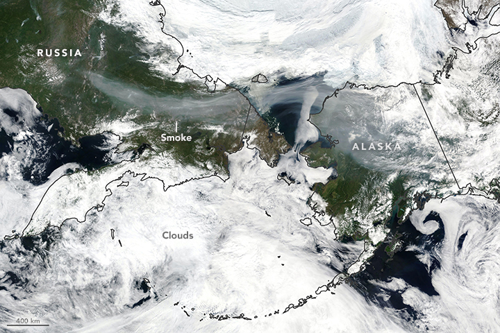Today's Image of the Day from NASA Earth Observatory shows smoke produced by raging fires across Russia that drifted nearly halfway around the world.