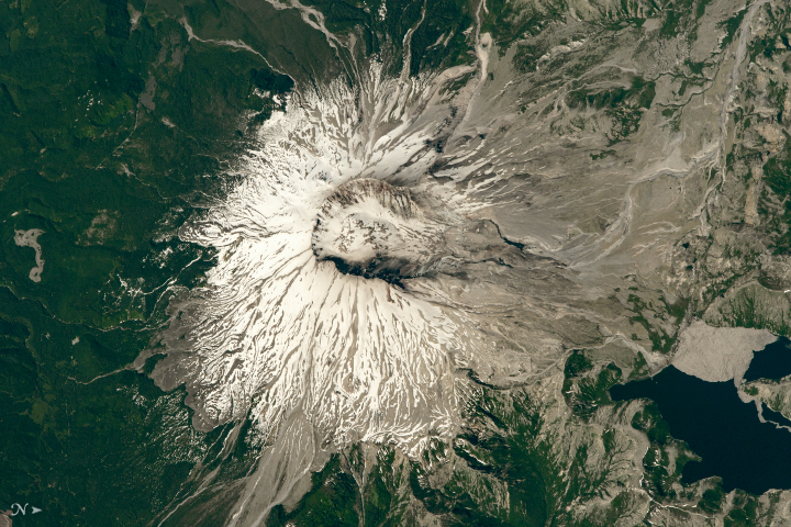 Today's Image of the Day from NASA Earth Observatory features Mount St. Helens, where a devastating volcanic eruption killed 57 people and thousands of animals on May 18, 1980.