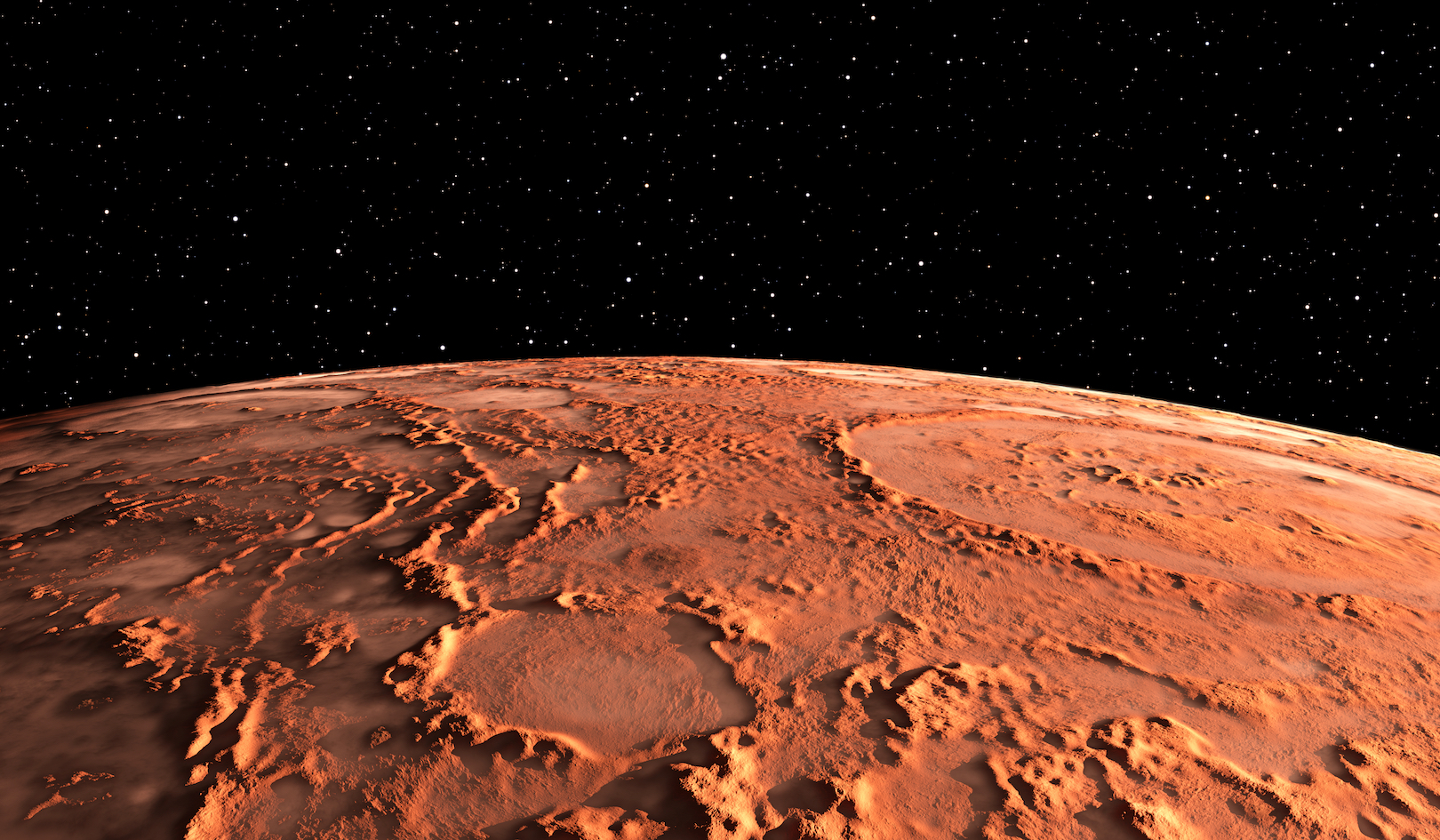 Researchers used a radar to probe polar ice caps on Mars and detected a lake of liquid water beneath the surface.