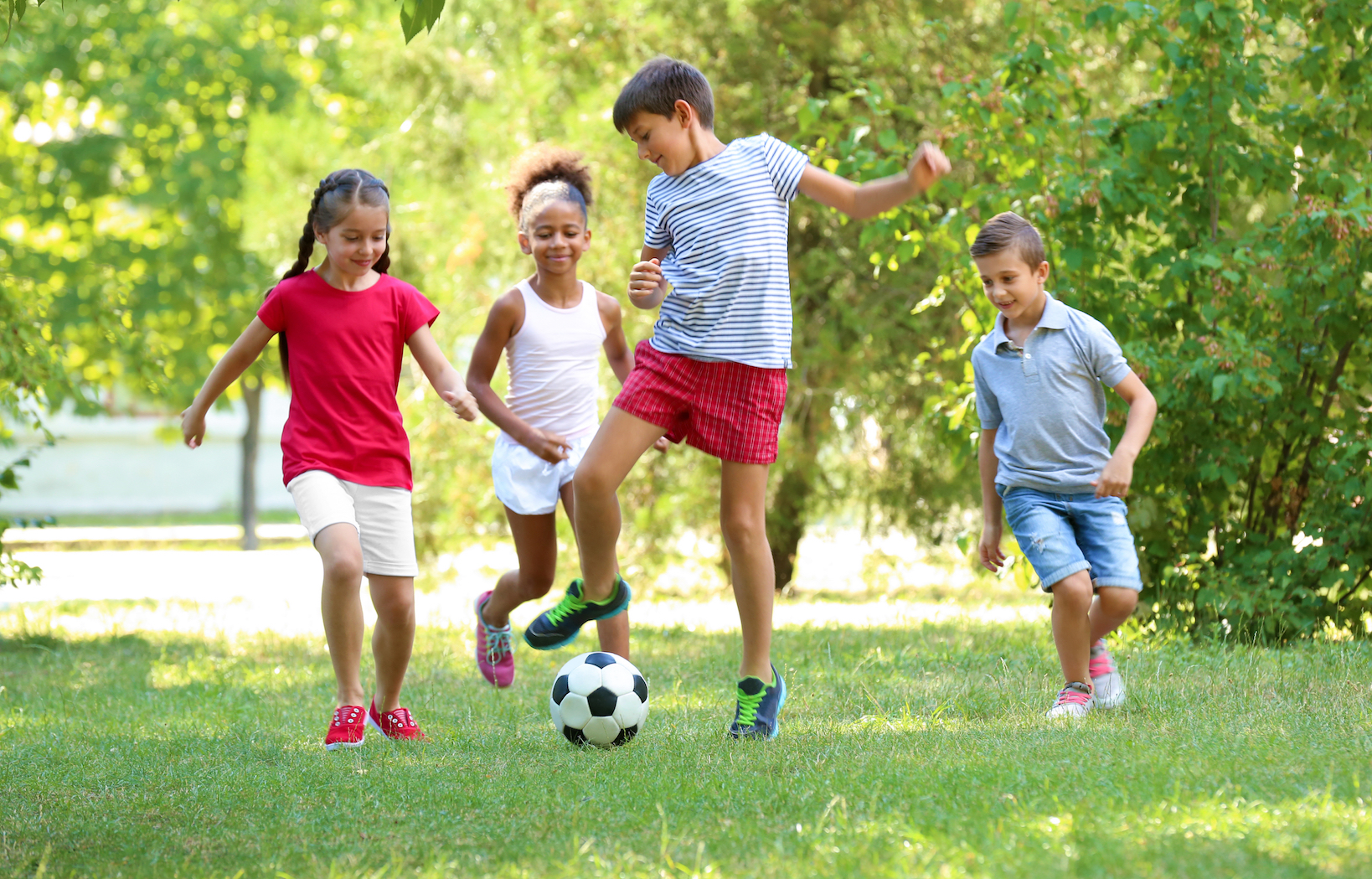 Children Playing Outside Kids now spend twice a...