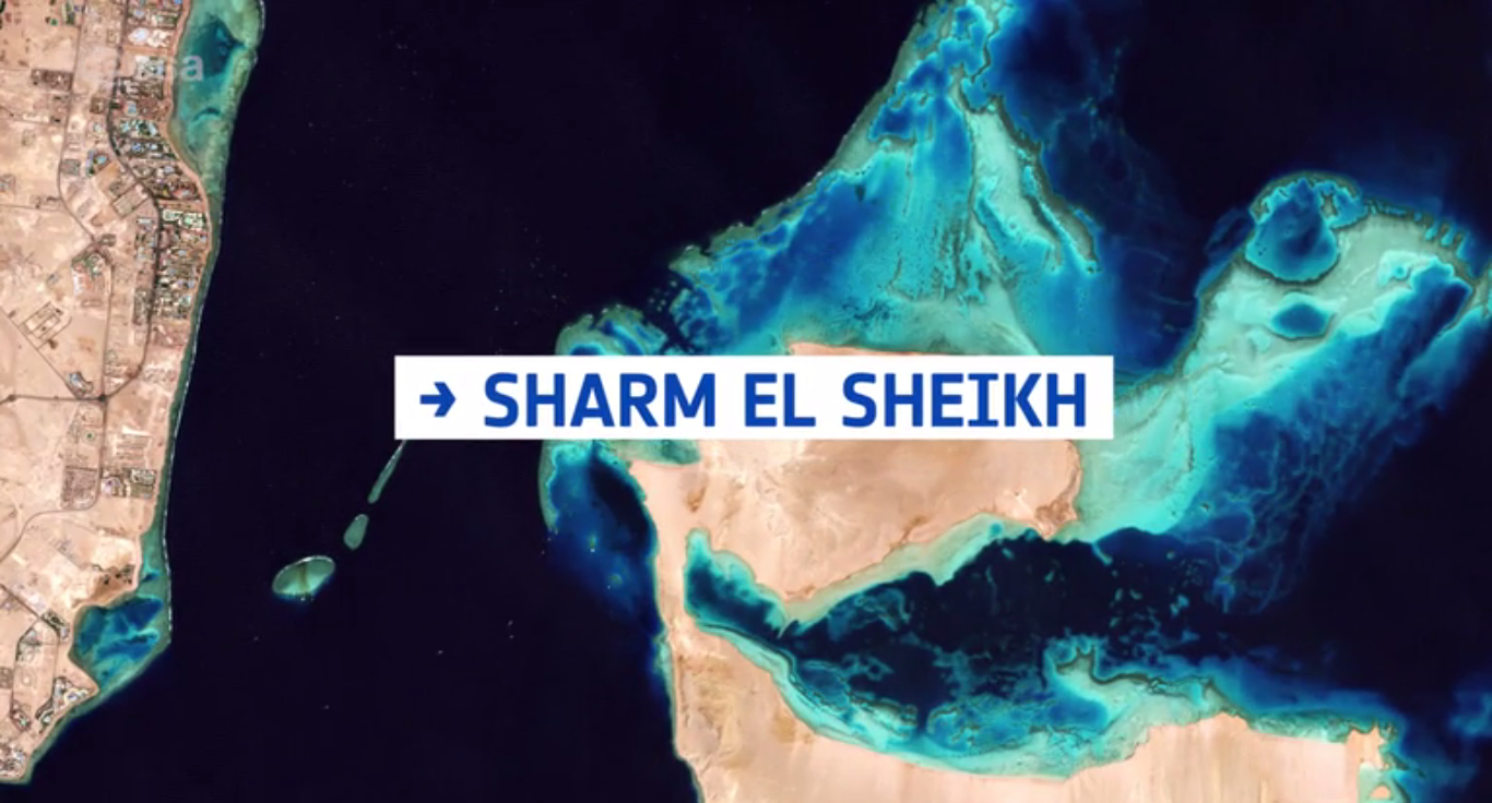 Today's Video of the Day from the European Space Agency (ESA) provides a glimpse of the famous coastal resort town of Sharm El Sheikh in Egypt.