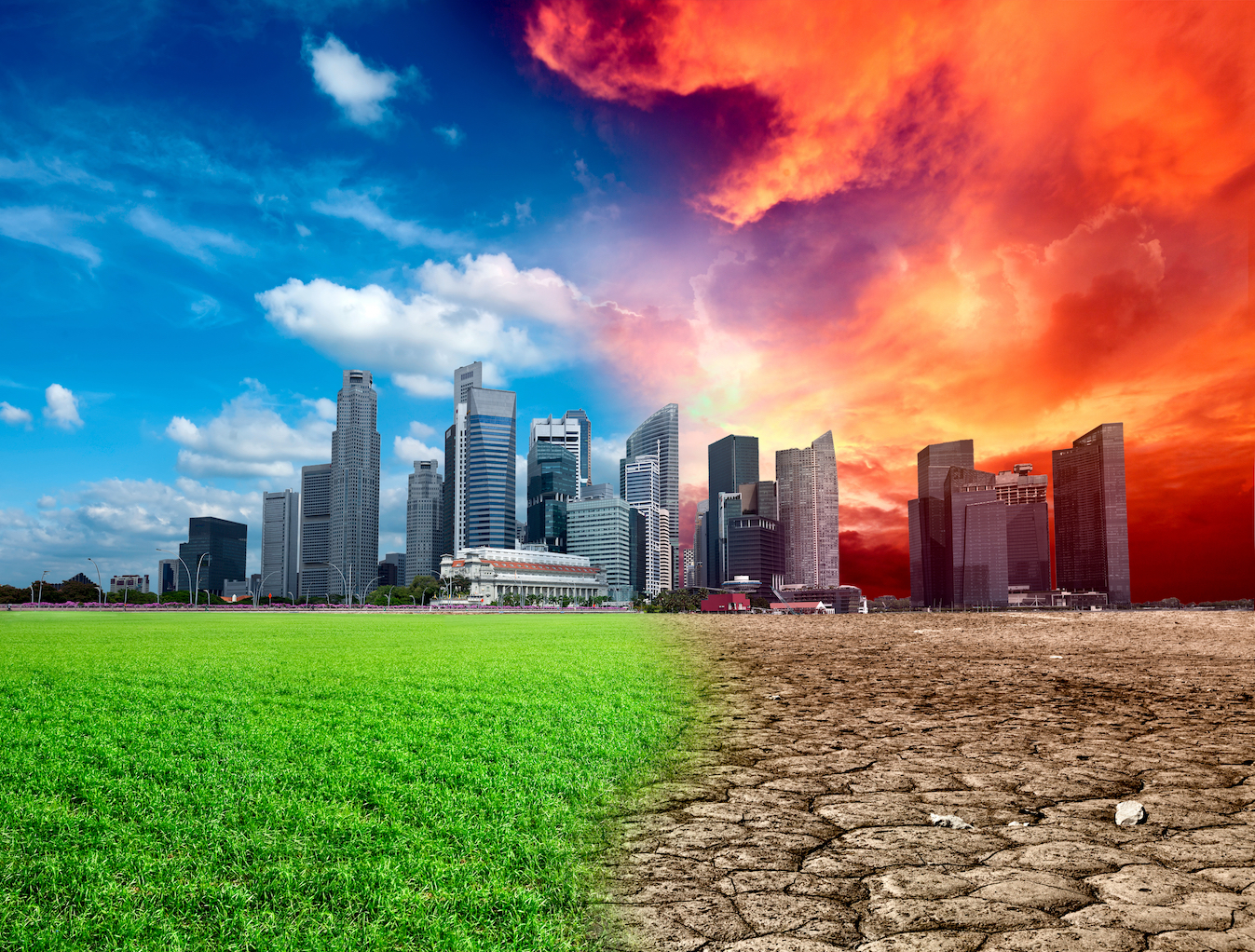 The Hothouse Earth climate will see increased global temperatures at an average of 4 to 5°C higher and a sea level 10 to 60 meters higher.
