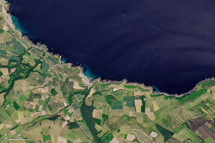 Today's Image of the Day from NASA Earth Observatory shows Siccar Point, which is in the county of Berwickshire on the east coast of Scotland.