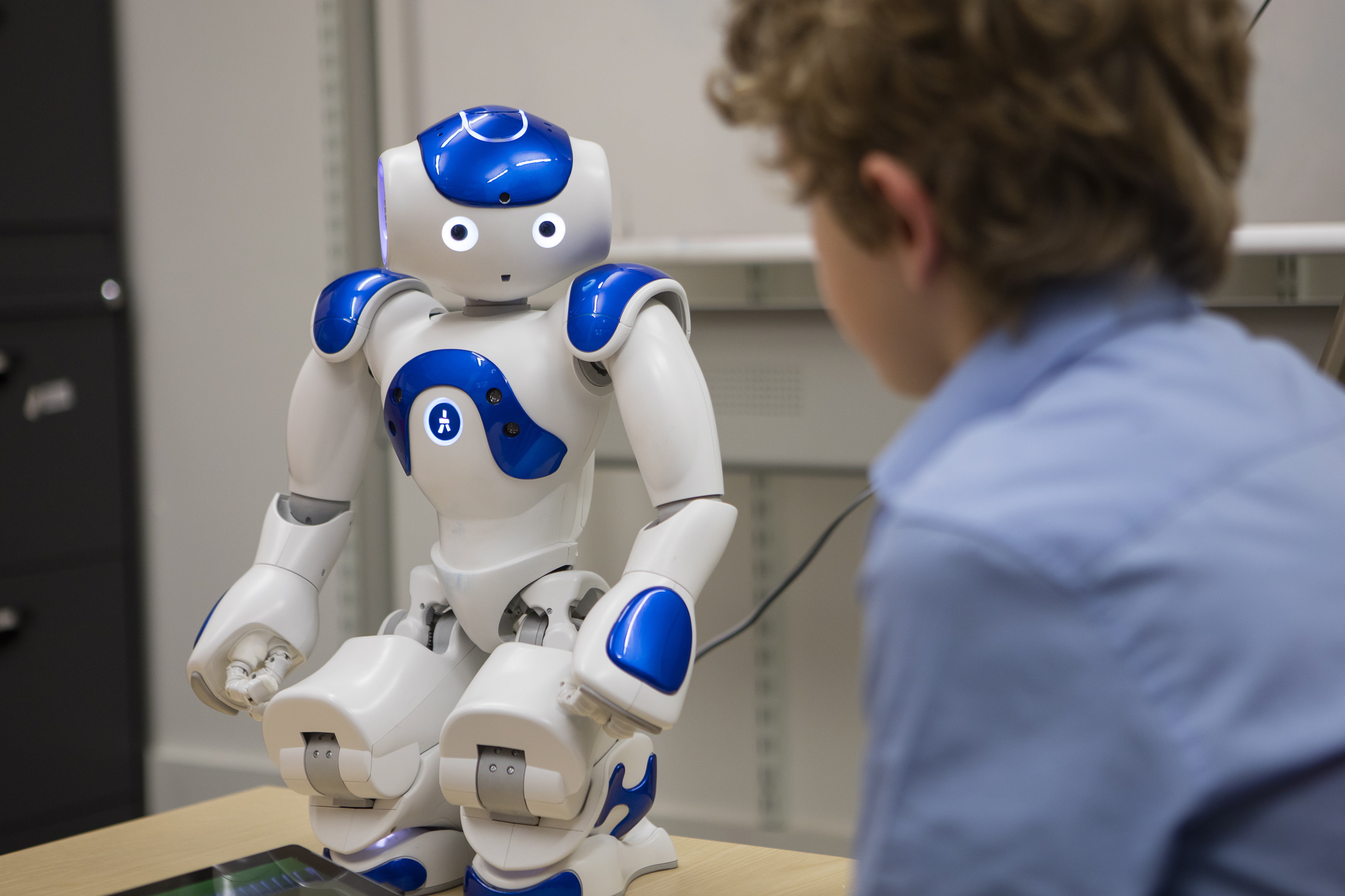 A new study showed that children between the ages of seven and nine were significantly influenced by the presence of robots.