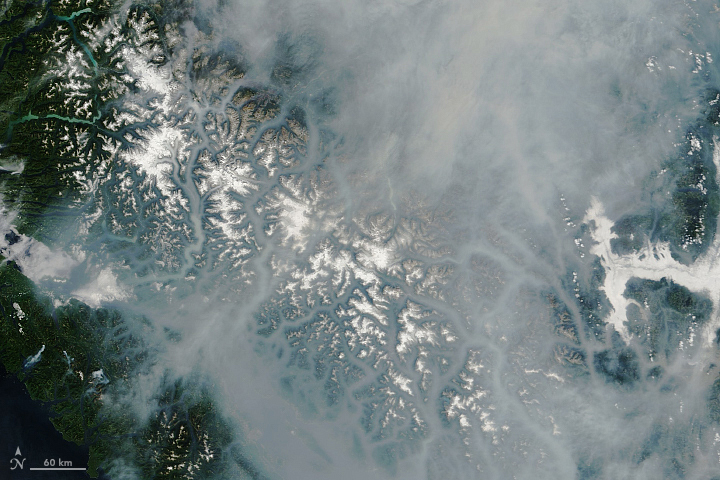 Today's Image of the Day from NASA Earth Observatory shows thick smoke lingering over British Columbia after lightning storms triggered hundreds of forest fires in July and August.