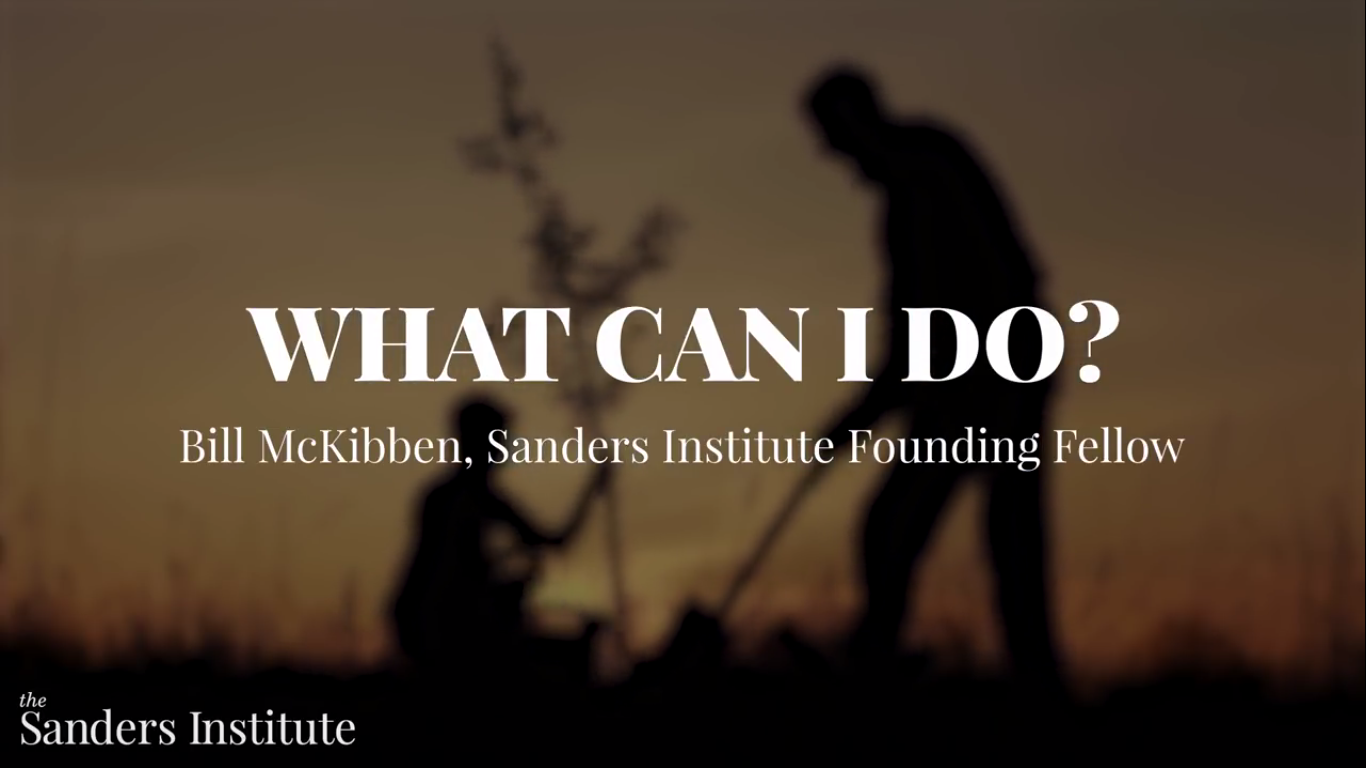 Today's Video of the Day from the The Sanders Institute addresses the question of what individuals can do to help fight climate change.